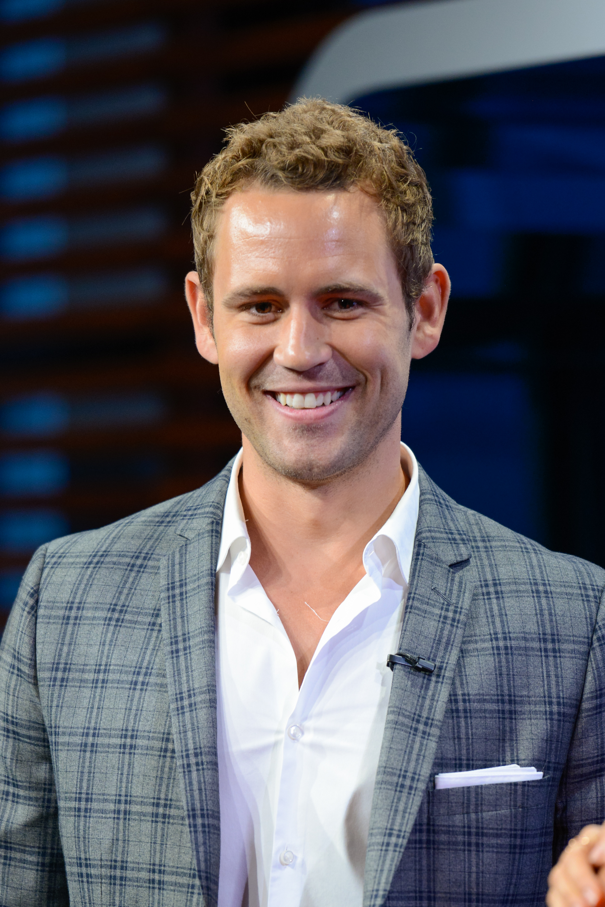 UNIVERSAL CITY, CA - JULY 30:  Nick Viall visits  Extra  at Universal Studios Hollywood on July 30, 2014 in Universal City, California.  (Photo by Noel Vasquez/Getty Images)