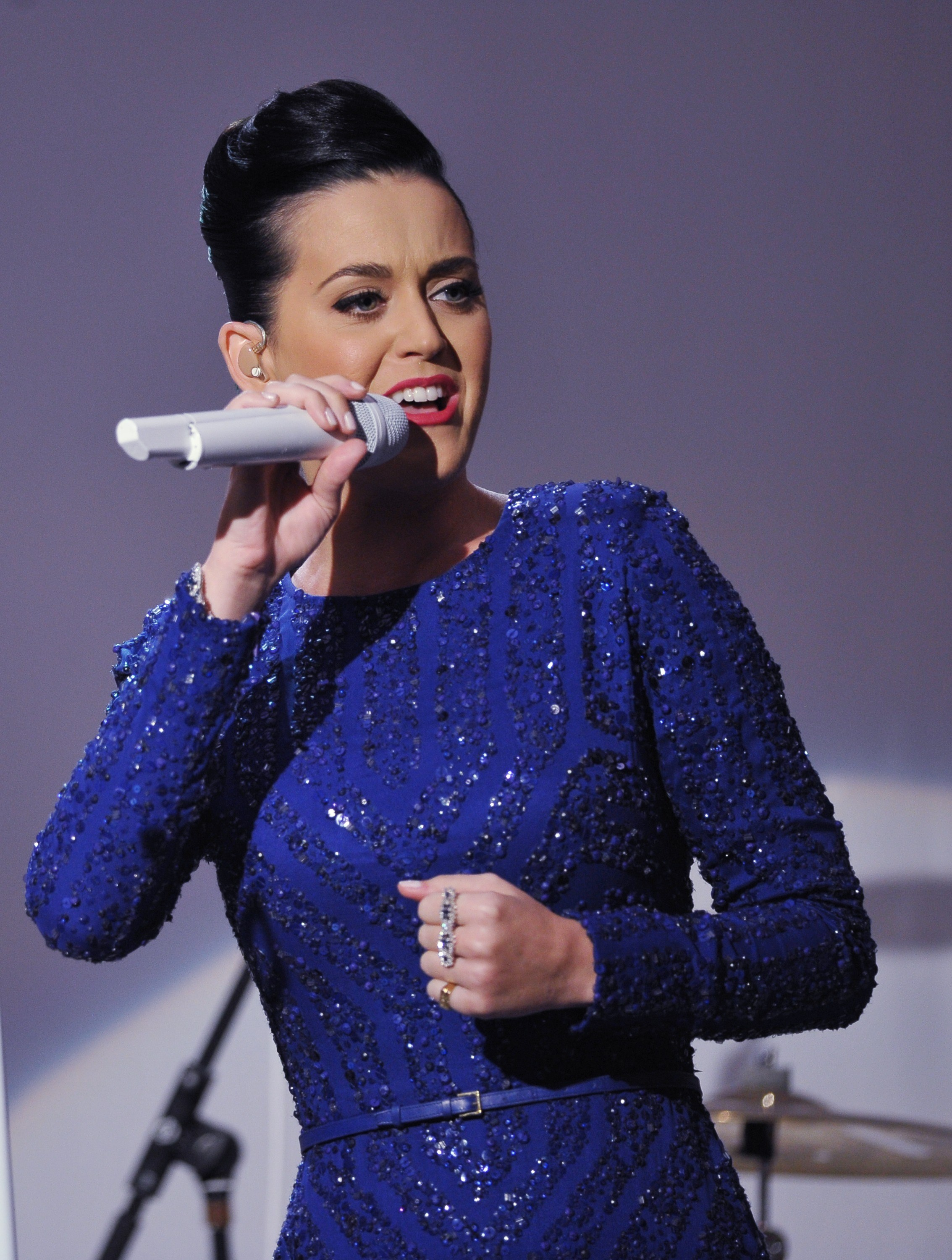 Singer Katy Perry performs at a concert in celebration of the Special Olympics on July 31, 2014 in the East Room of the White House in Washington, DC.    (MANDEL NGAN--AFP/Getty Images)