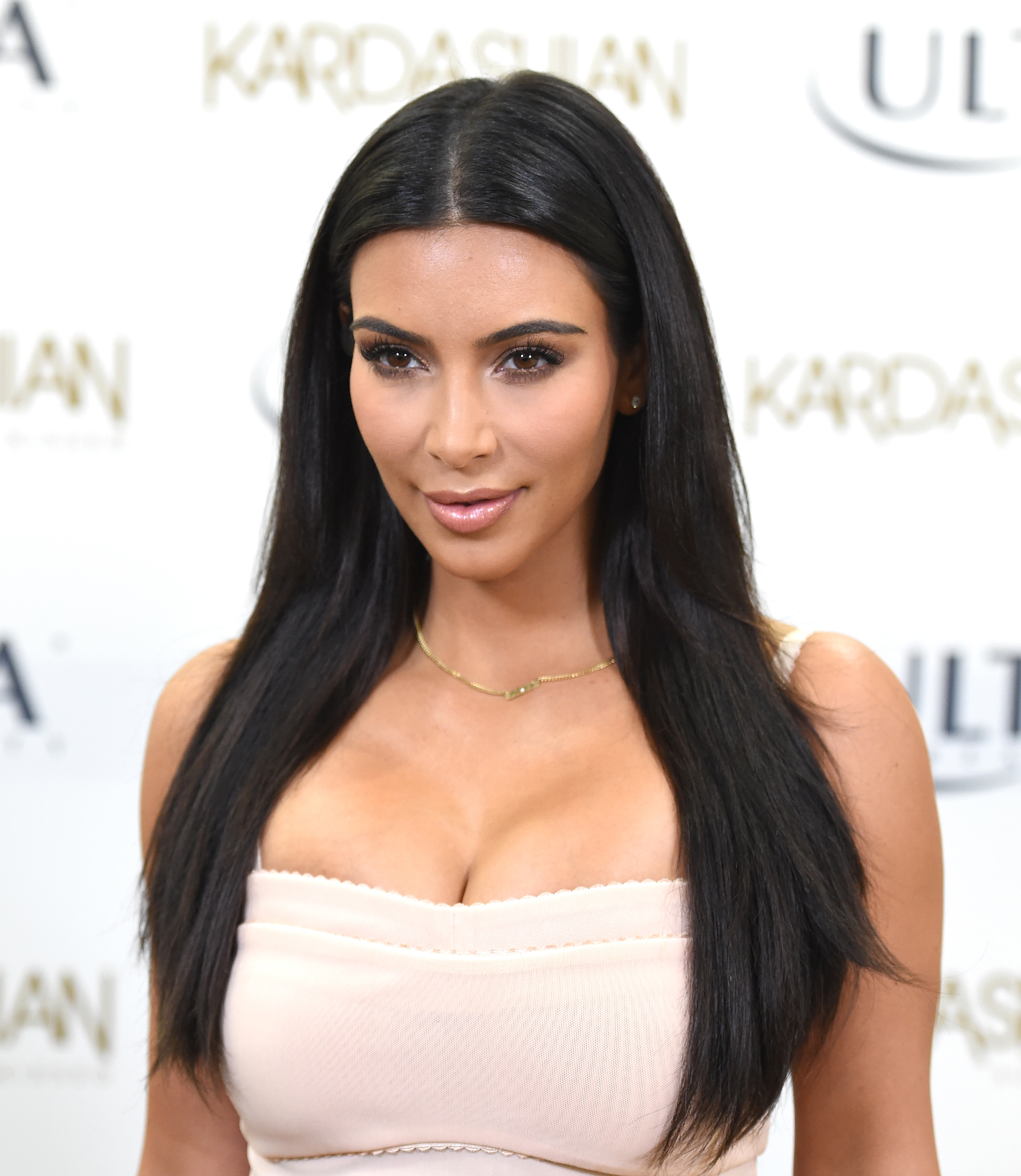 Kim Kardashian celebrates summer with the Kardashian Sun Kissed line and fans at ULTA Beauty on August 6, 2014 in Los Angeles, California.