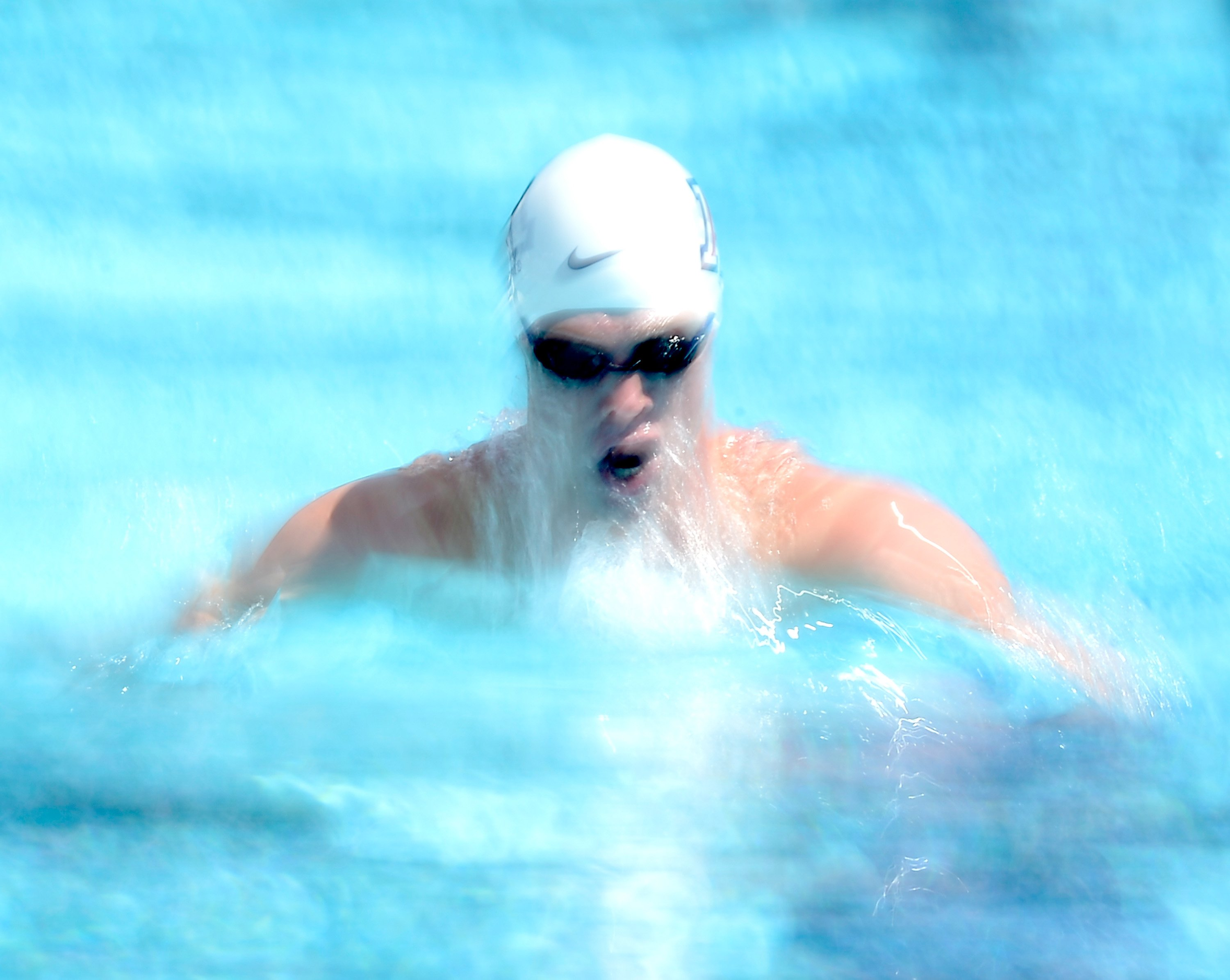 Aug. 7, 2014. Kevin Cordes swims in the Men's 200 Meter Breaststroke Prelims during the 2014 Phillips 66 National Championships at the Woollett Aquatic Center in Irvine, California.