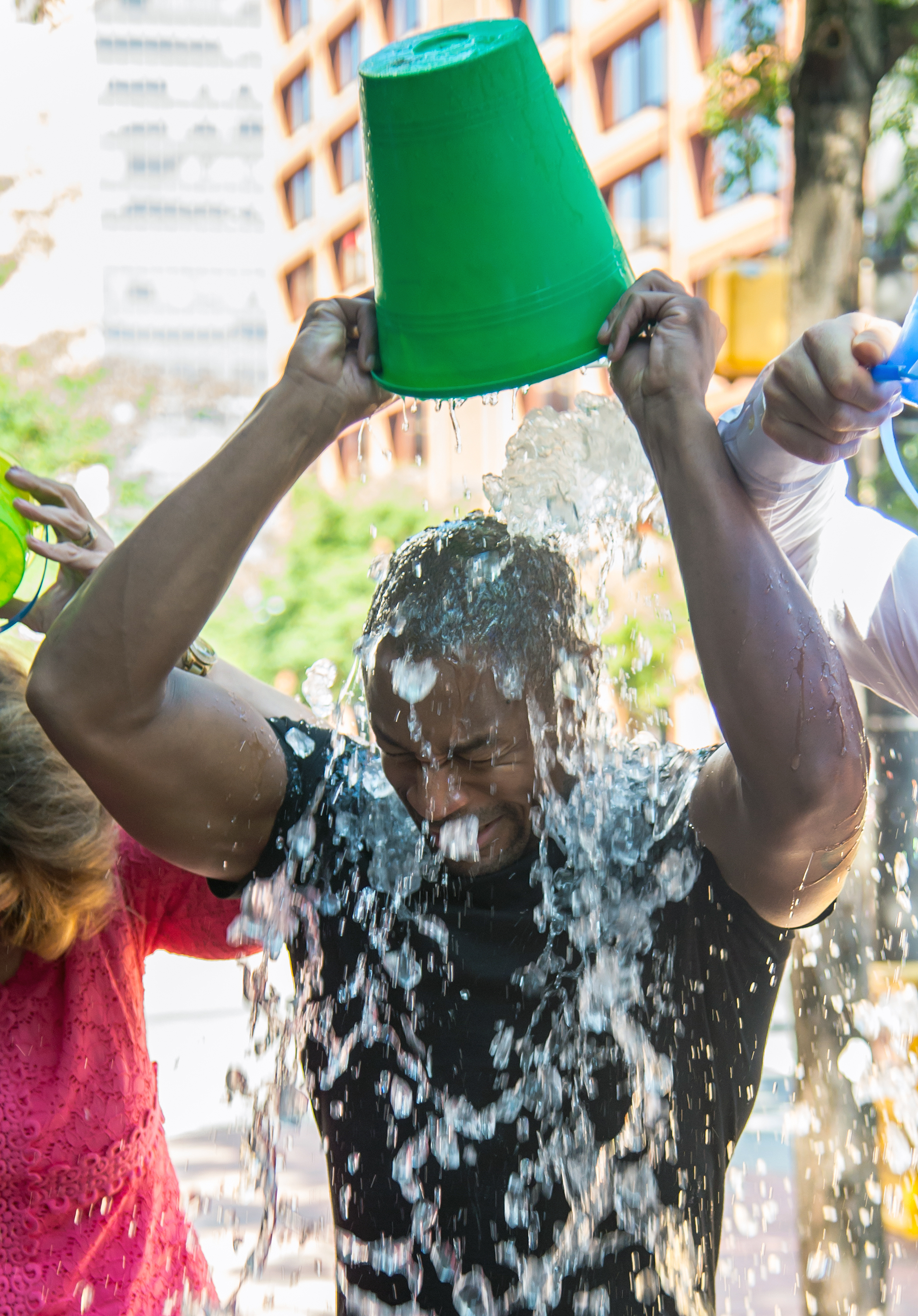 R&B singer, songwriter and producer Tank  takes The Ice Bucket Challenge and challenges his friends
