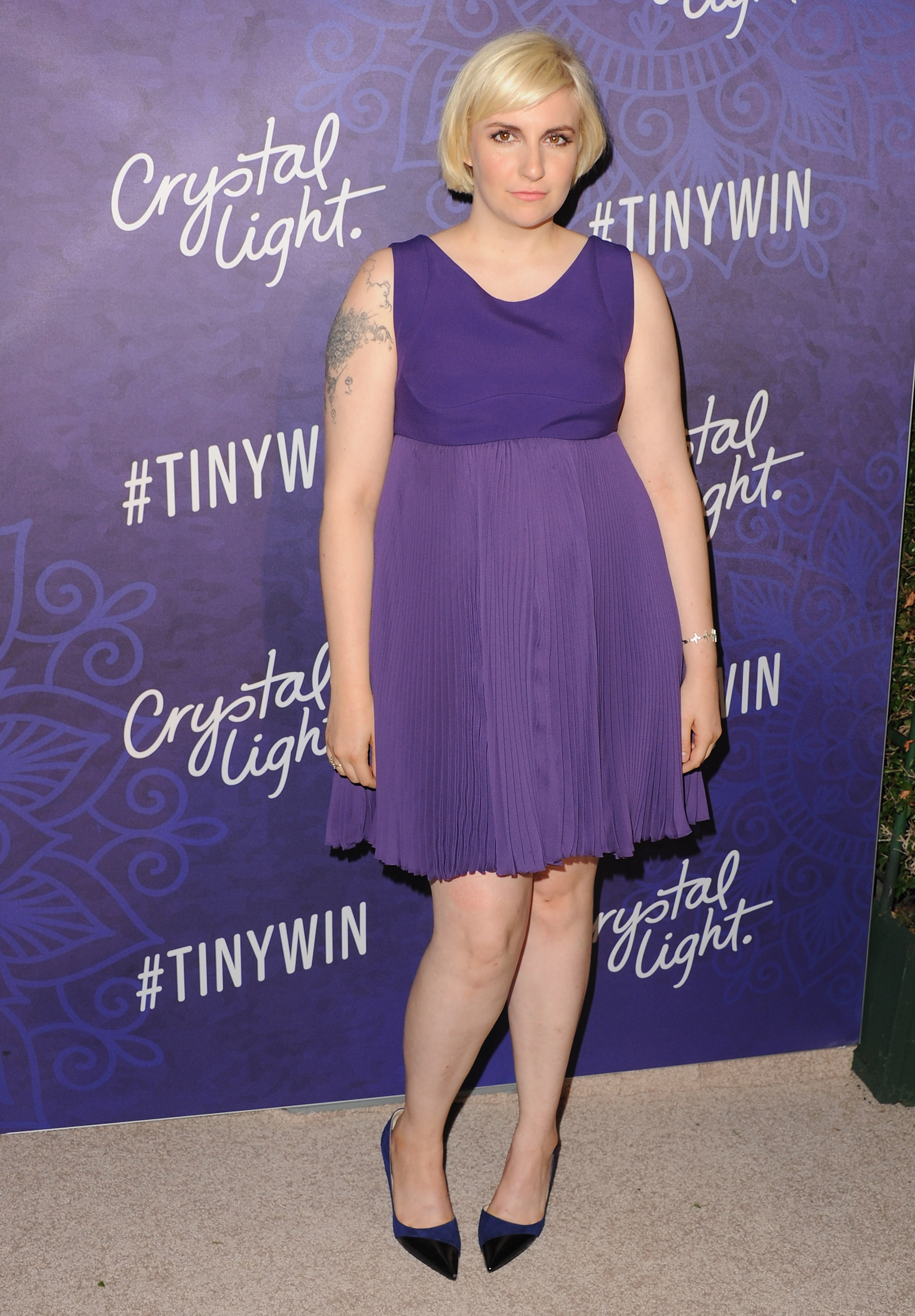 Actress Lena Dunham arrives at Variety And Women In Film Annual Pre-Emmy Celebration at Gracias Madre on August 23, 2014 in West Hollywood, California.  (Photo by Jon Kopaloff/FilmMagic)