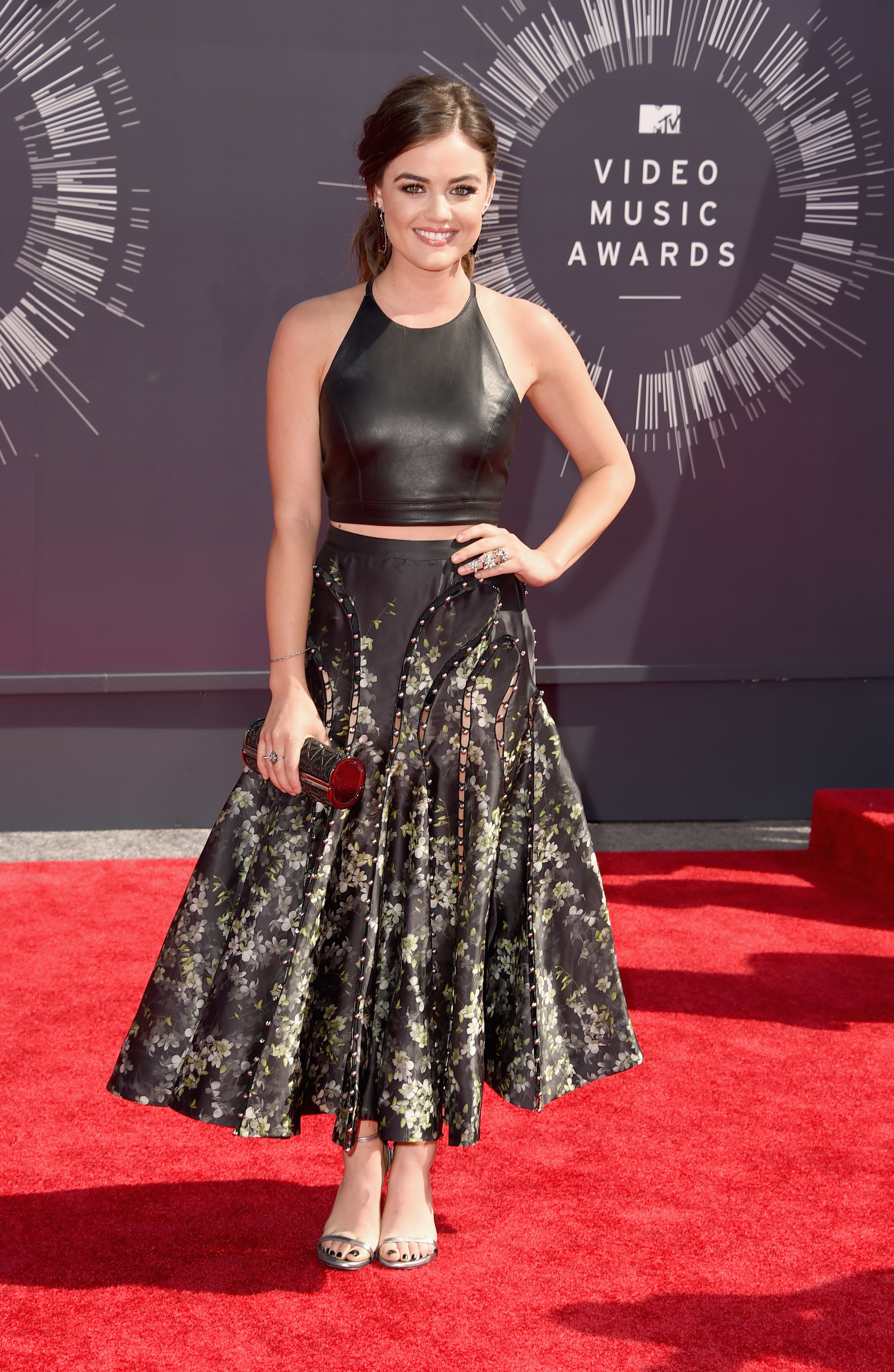 Lucy Hale attends the 2014 MTV Video Music Awards at The Forum on August 24, 2014 in Inglewood, California.