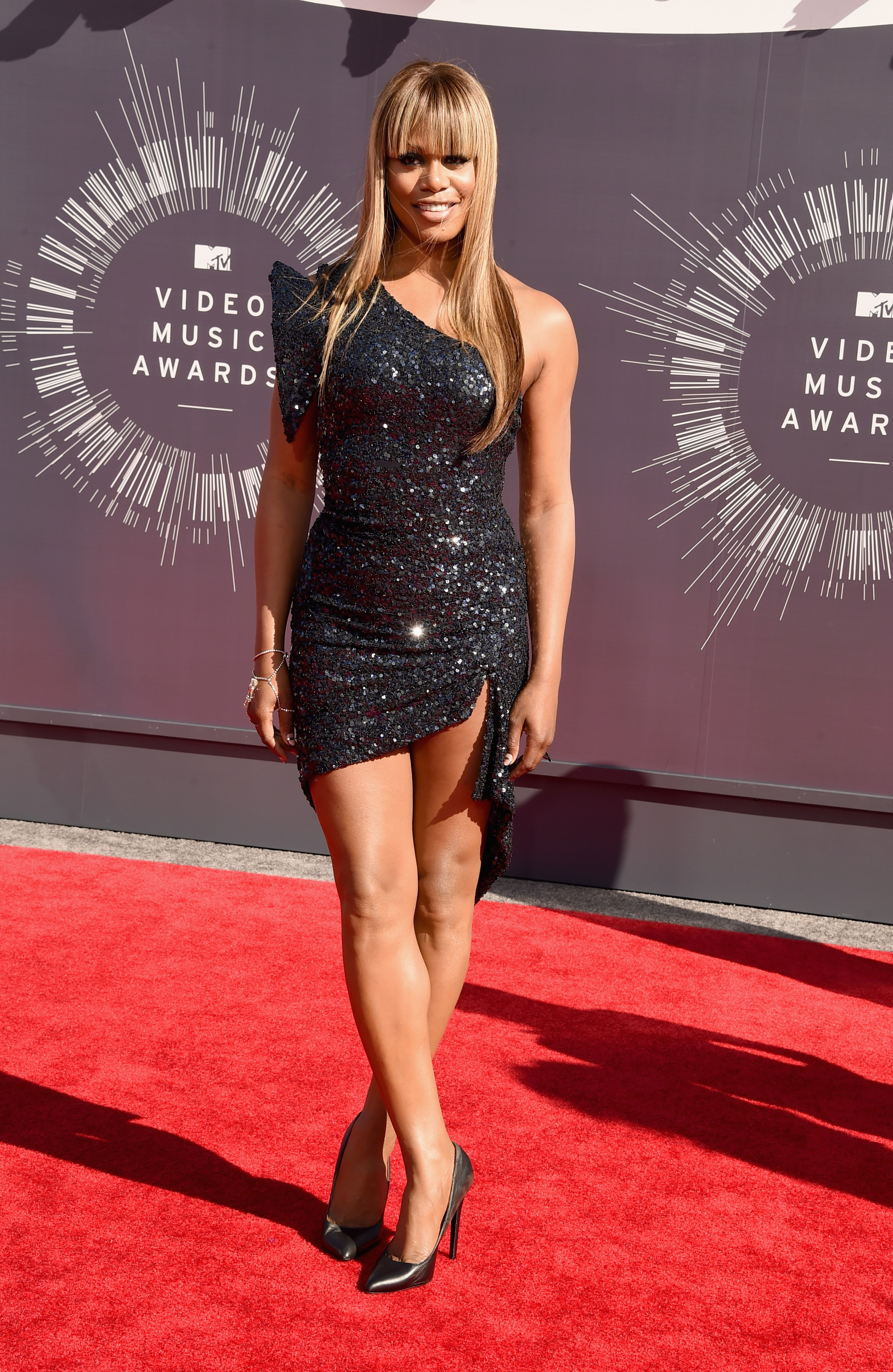 Laverne Cox attends the 2014 MTV Video Music Awards at The Forum on August 24, 2014 in Inglewood, California.