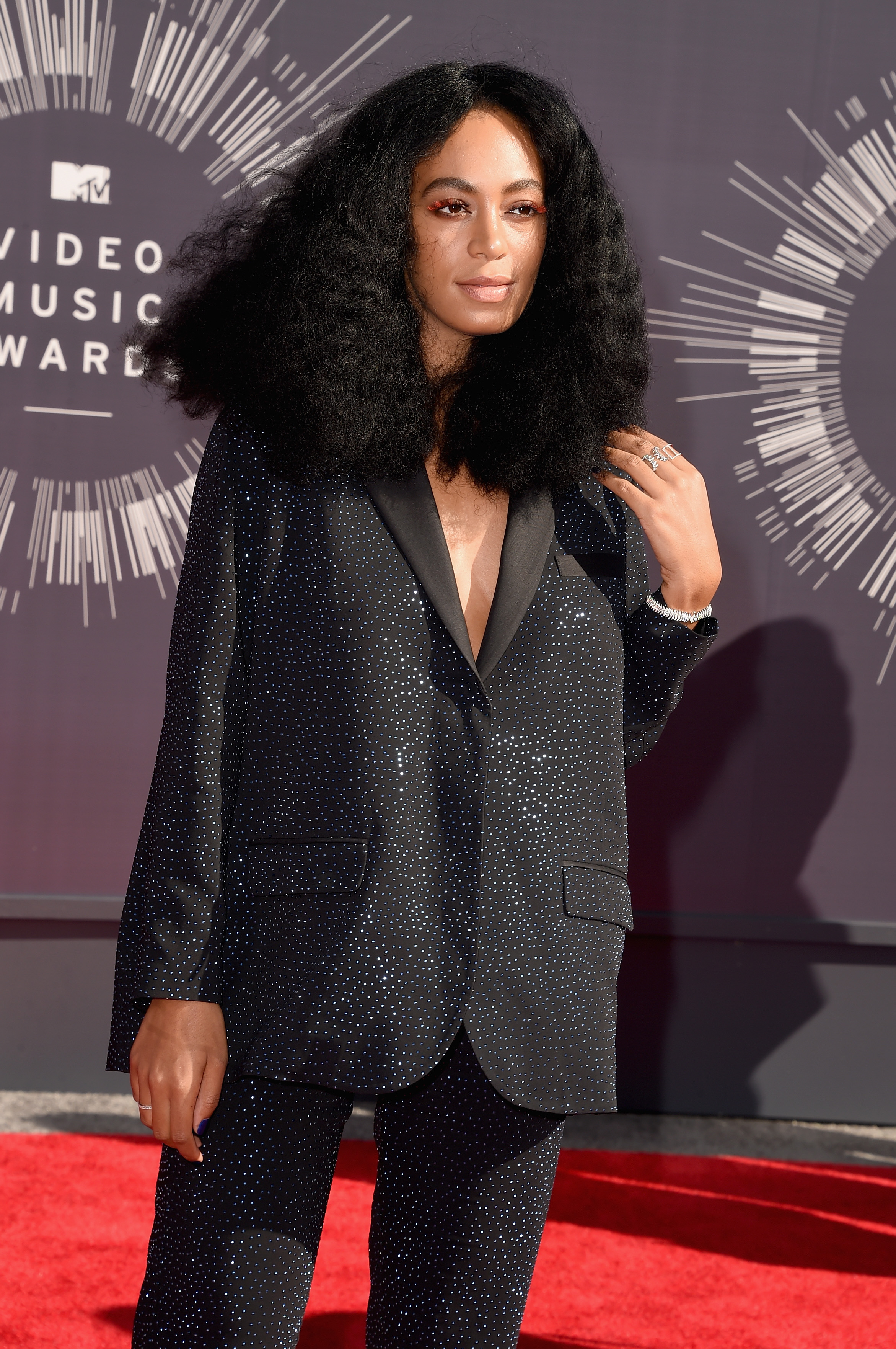 Solange Knowles attends the 2014 MTV Video Music Awards at The Forum on August 24, 2014 in Inglewood, California.