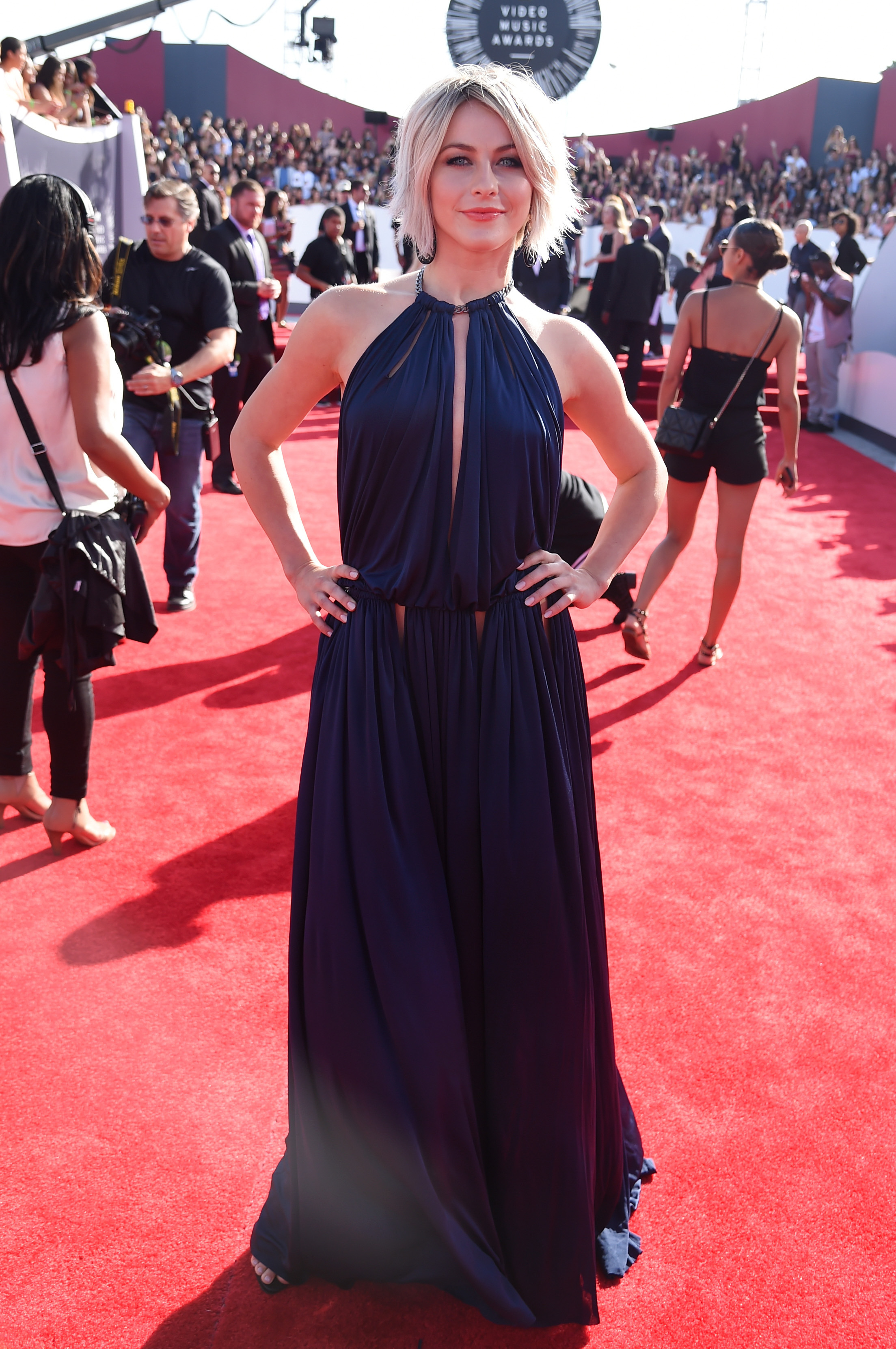 Actress Julianne Hough attends the 2014 MTV Video Music Awards at The Forum on August 24, 2014 in Inglewood, California..