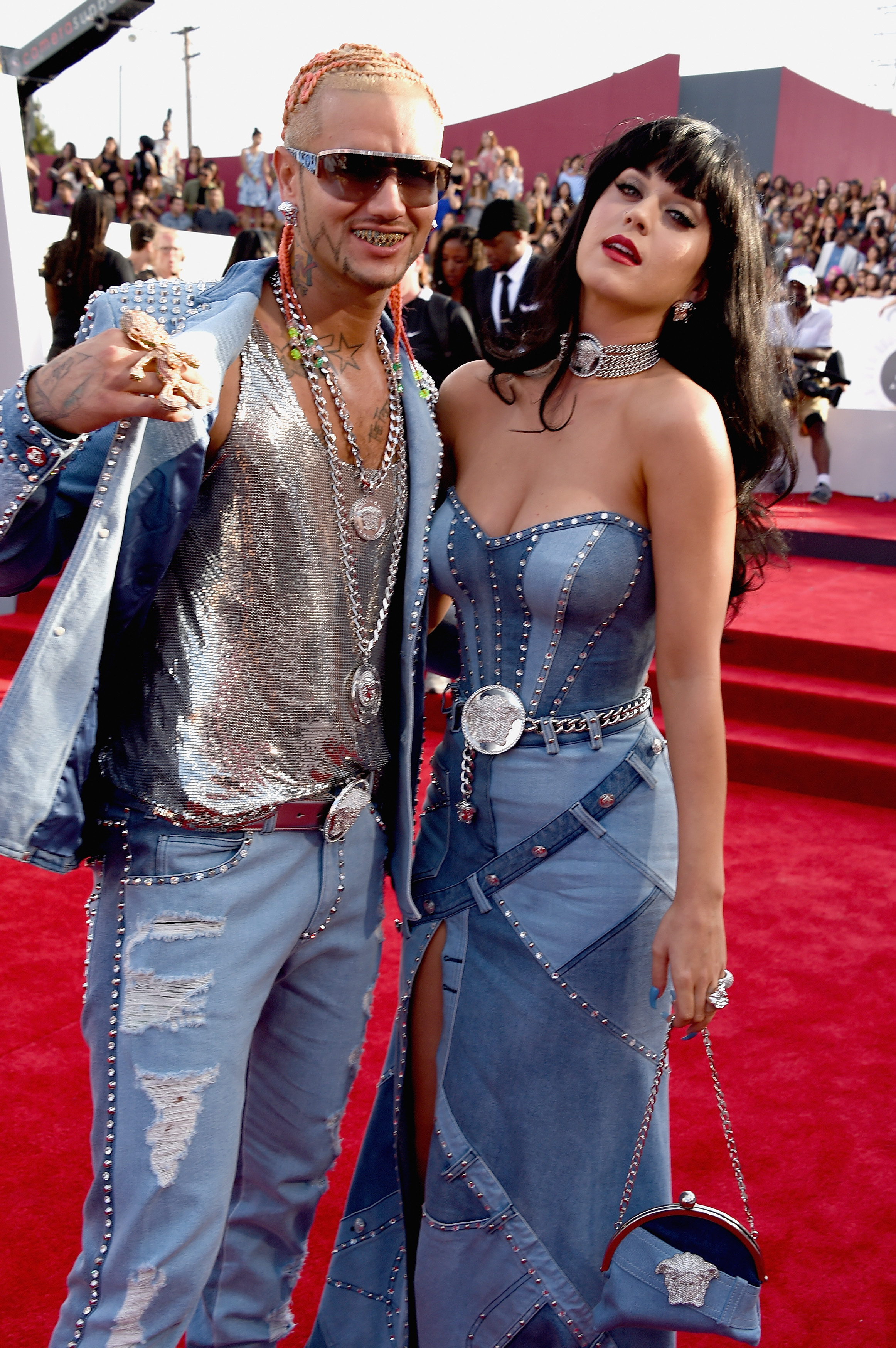 Riff Raff and Katy Perry attend the 2014 MTV Video Music Awards at The Forum on August 24, 2014 in Inglewood, California.
