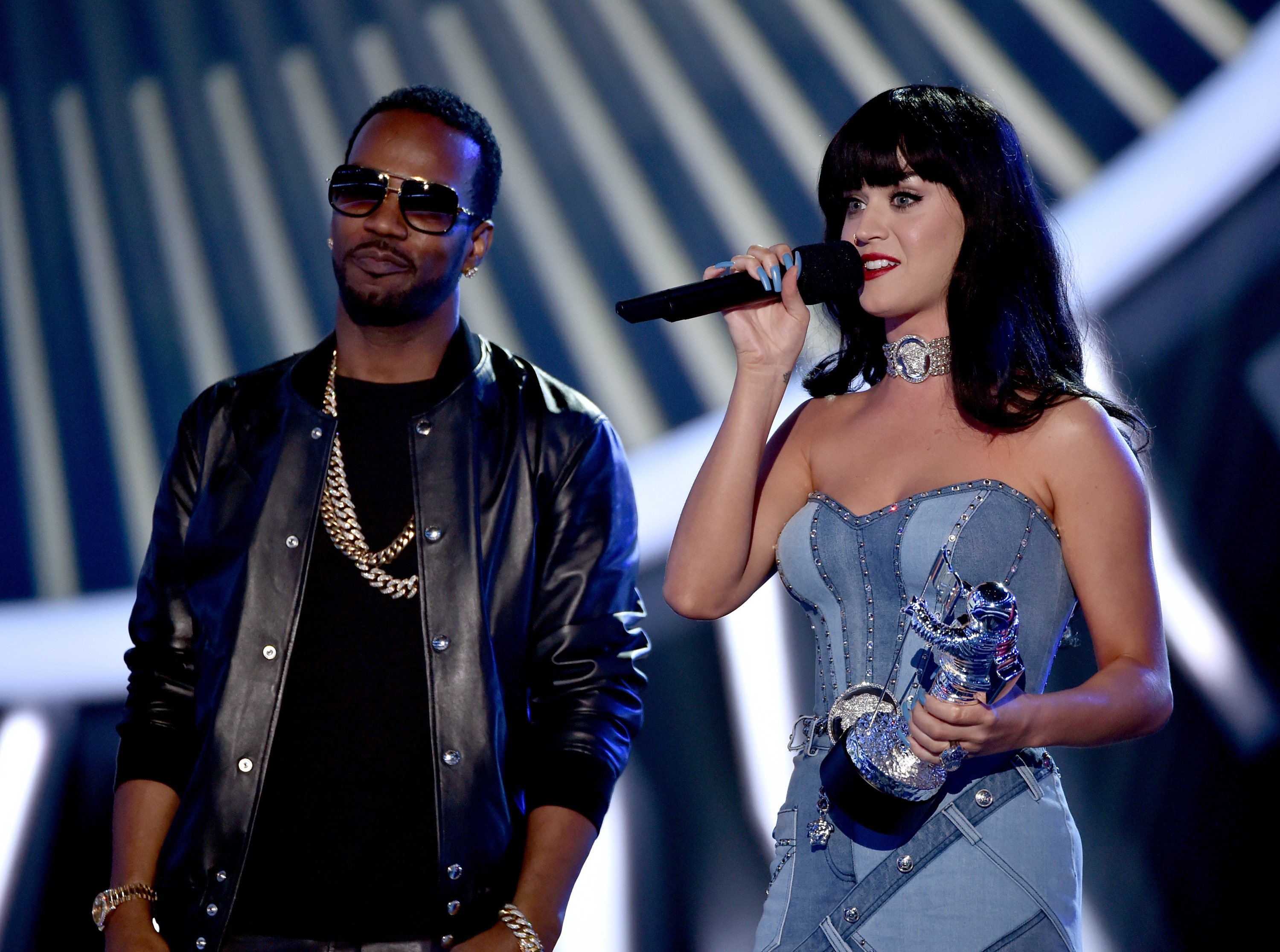 Katy Perry accepts Best Female Video for  Dark Horse  during the 2014 MTV Video Music Awards at the Forum on Aug. 24, 2014, in Inglewood, Calif.