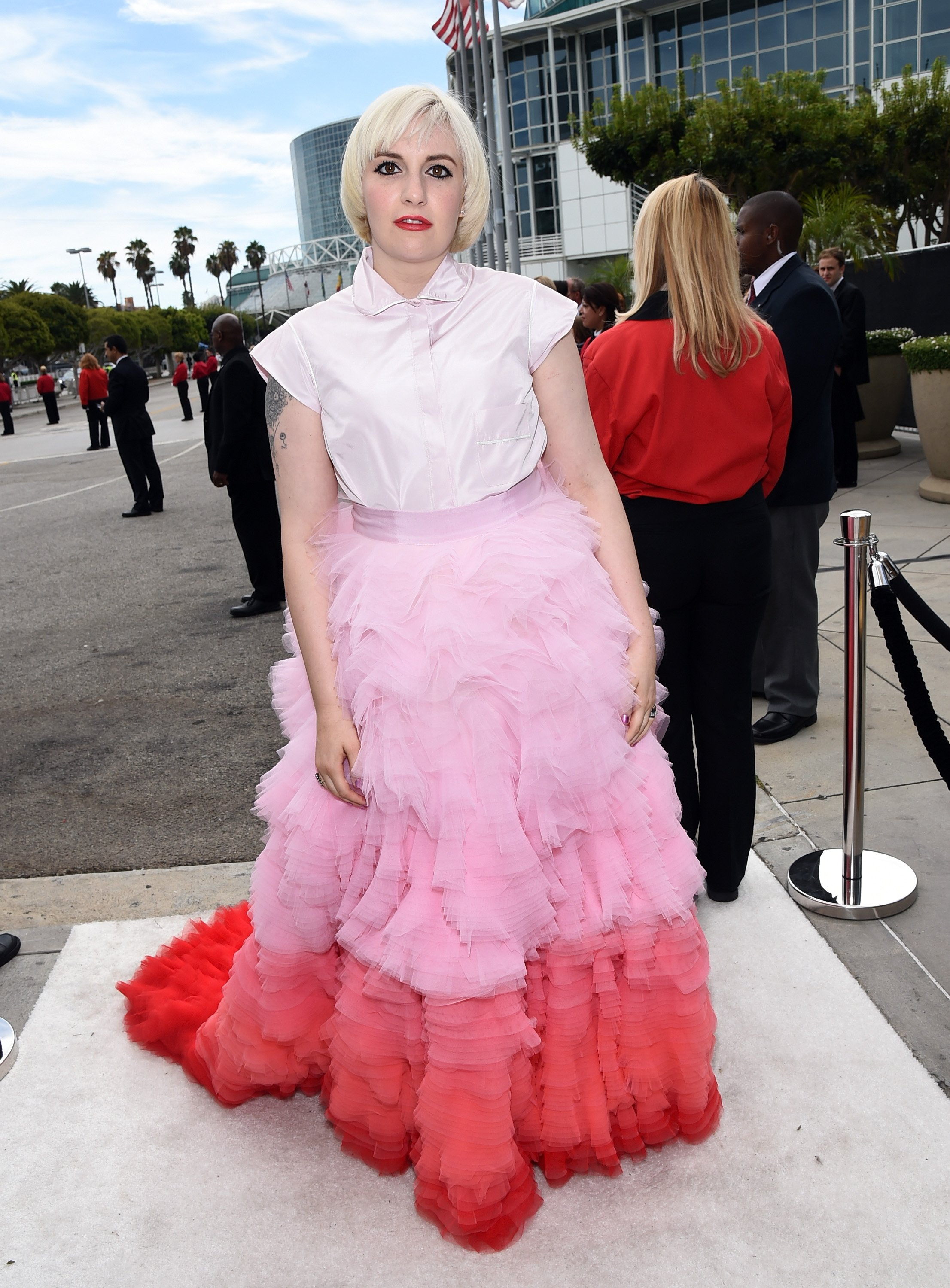 Lena Dunham attends the 66th Annual Primetime Emmy Awards held at Nokia Theatre L.A. Live on August 25, 2014 in Los Angeles, California.