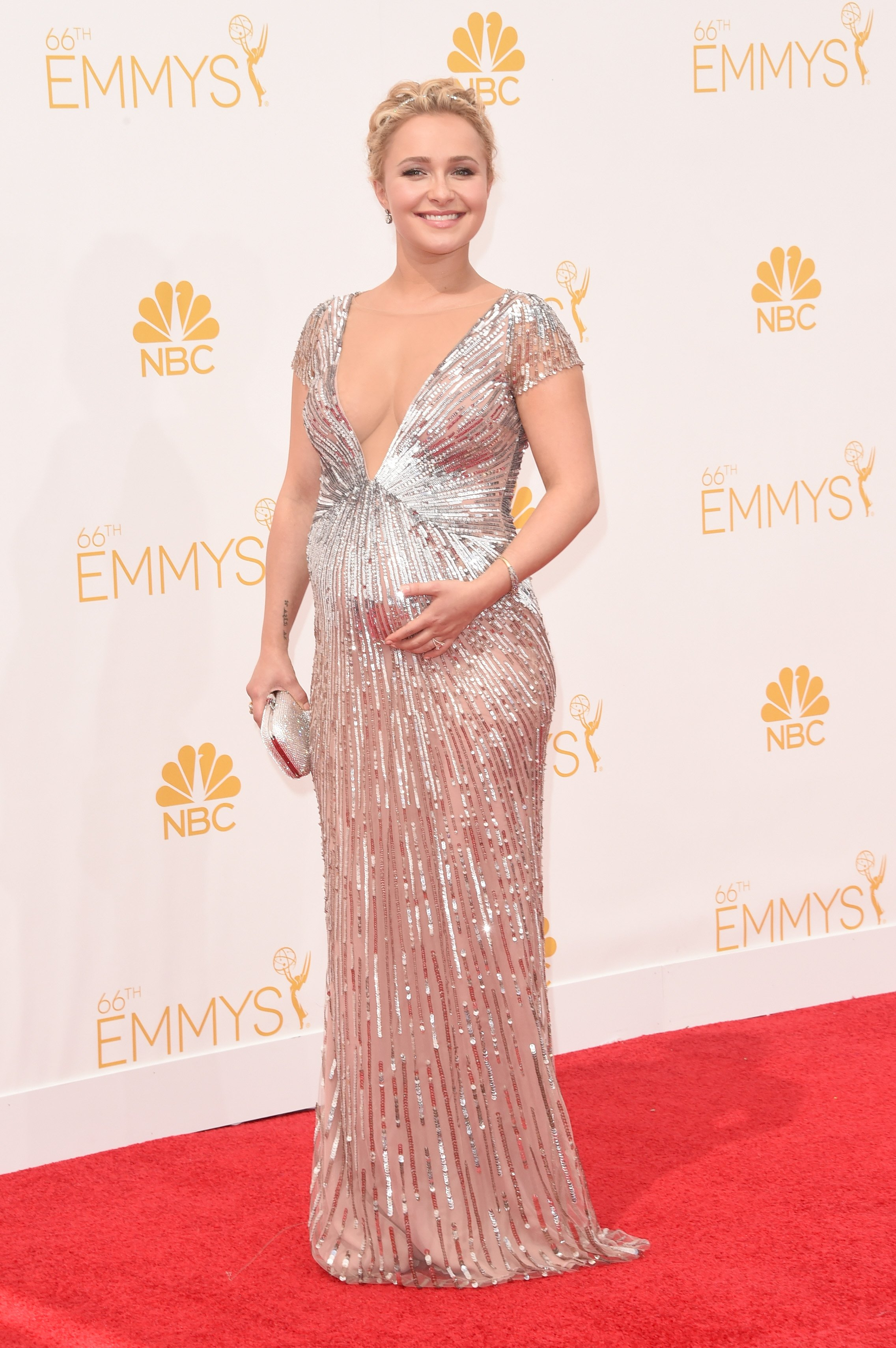 Hayden Panettiere attends the 66th Annual Primetime Emmy Awards held at Nokia Theatre L.A. Live on August 25, 2014 in Los Angeles, California.
