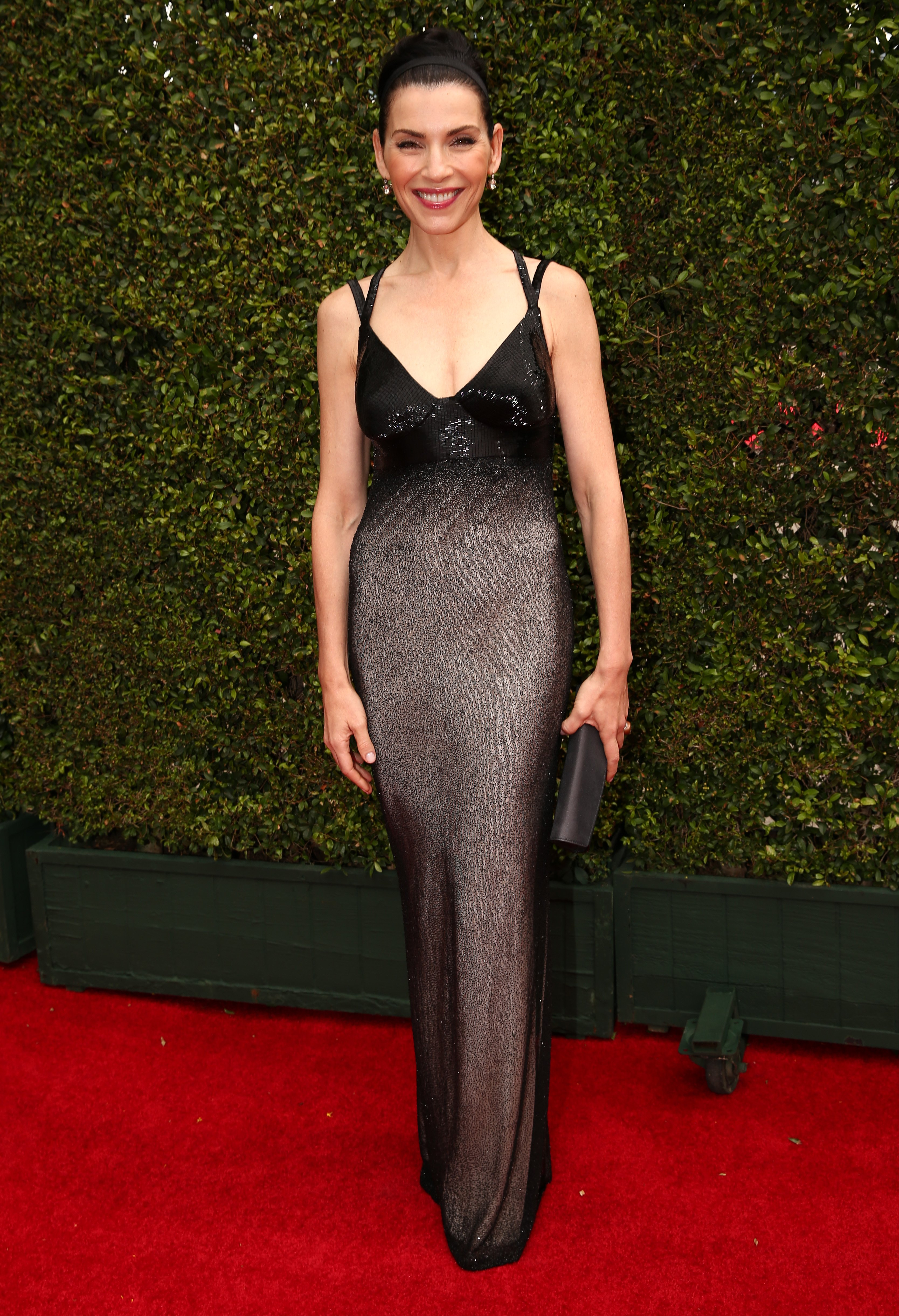 Julianna Margulies arrives to the 66th Annual Primetime Emmy Awards held at the Nokia Theater on August 25, 2014.
