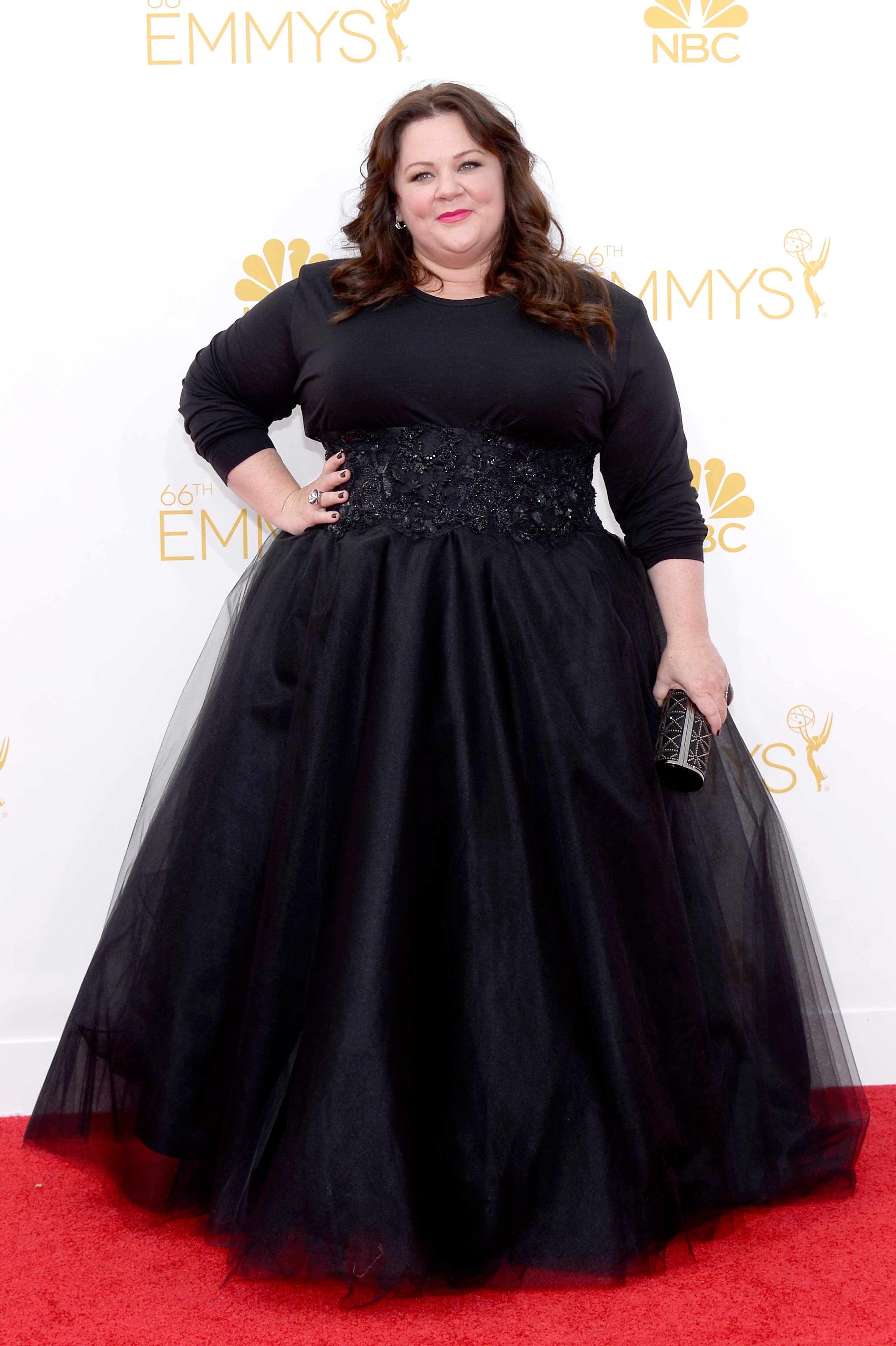 Melissa McCarthy arrives to the 66th Annual Primetime Emmy Awards held at the Nokia Theater on August 25, 2014.