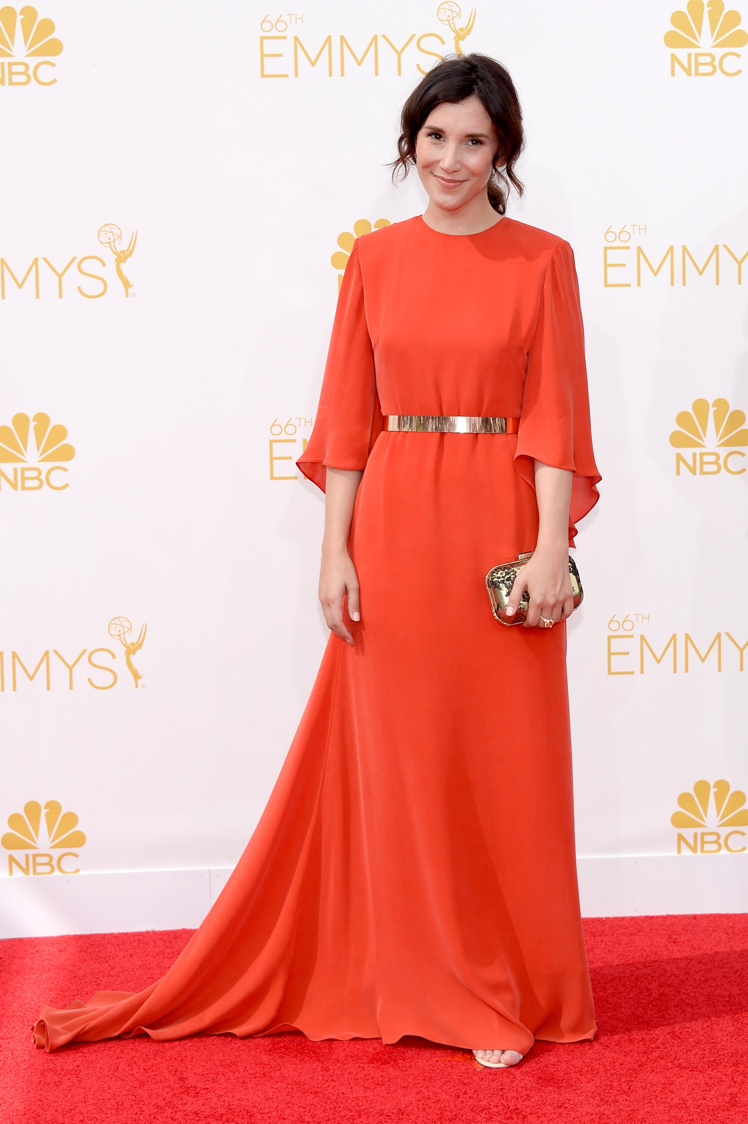 Sibel Kekilli arrives to the 66th Annual Primetime Emmy Awards held at the Nokia Theater on August 25, 2014.
