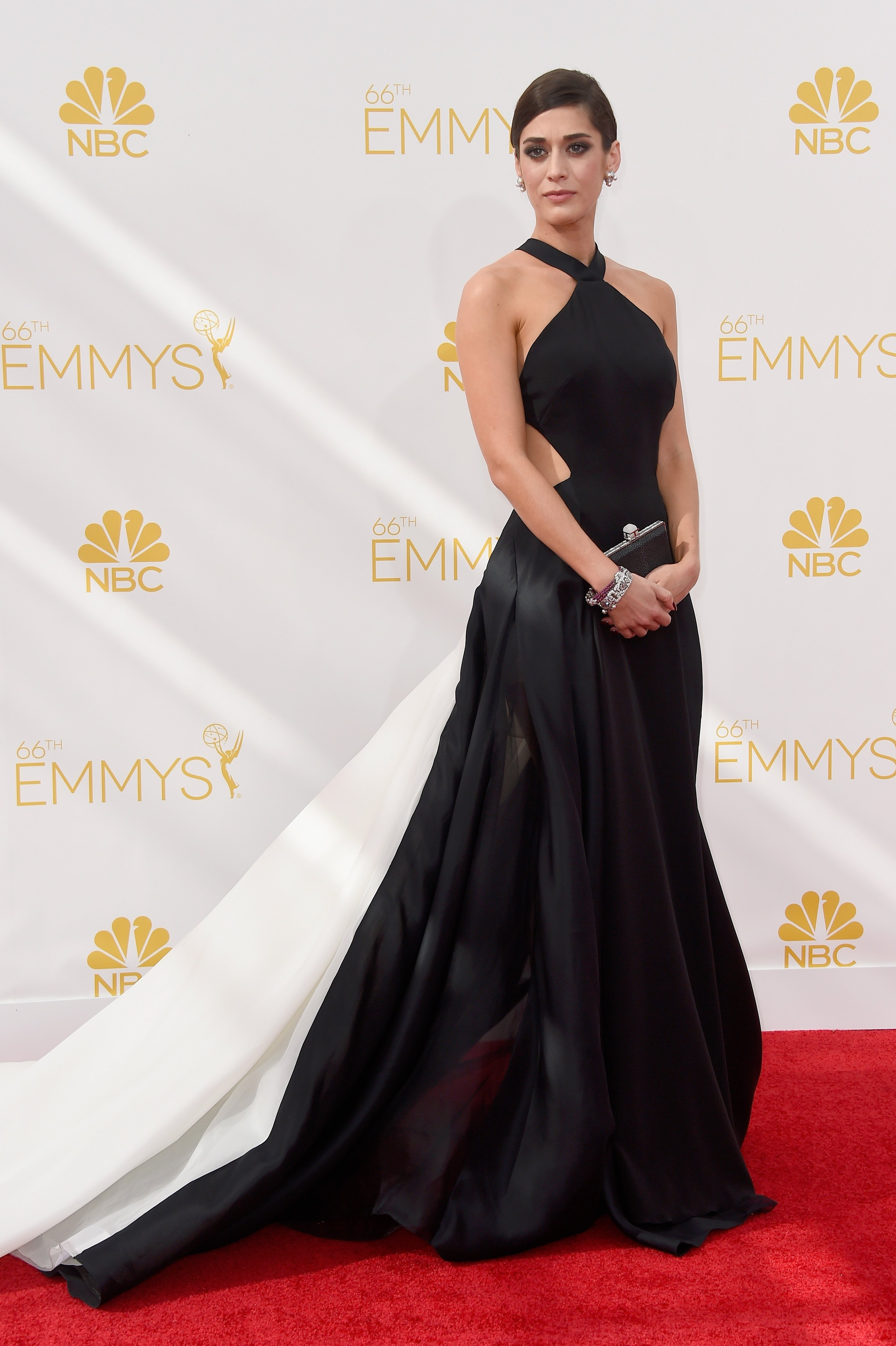 Lizzy Caplan attends the 66th Annual Primetime Emmy Awards held at Nokia Theatre L.A. Live on August 25, 2014 in Los Angeles, California.