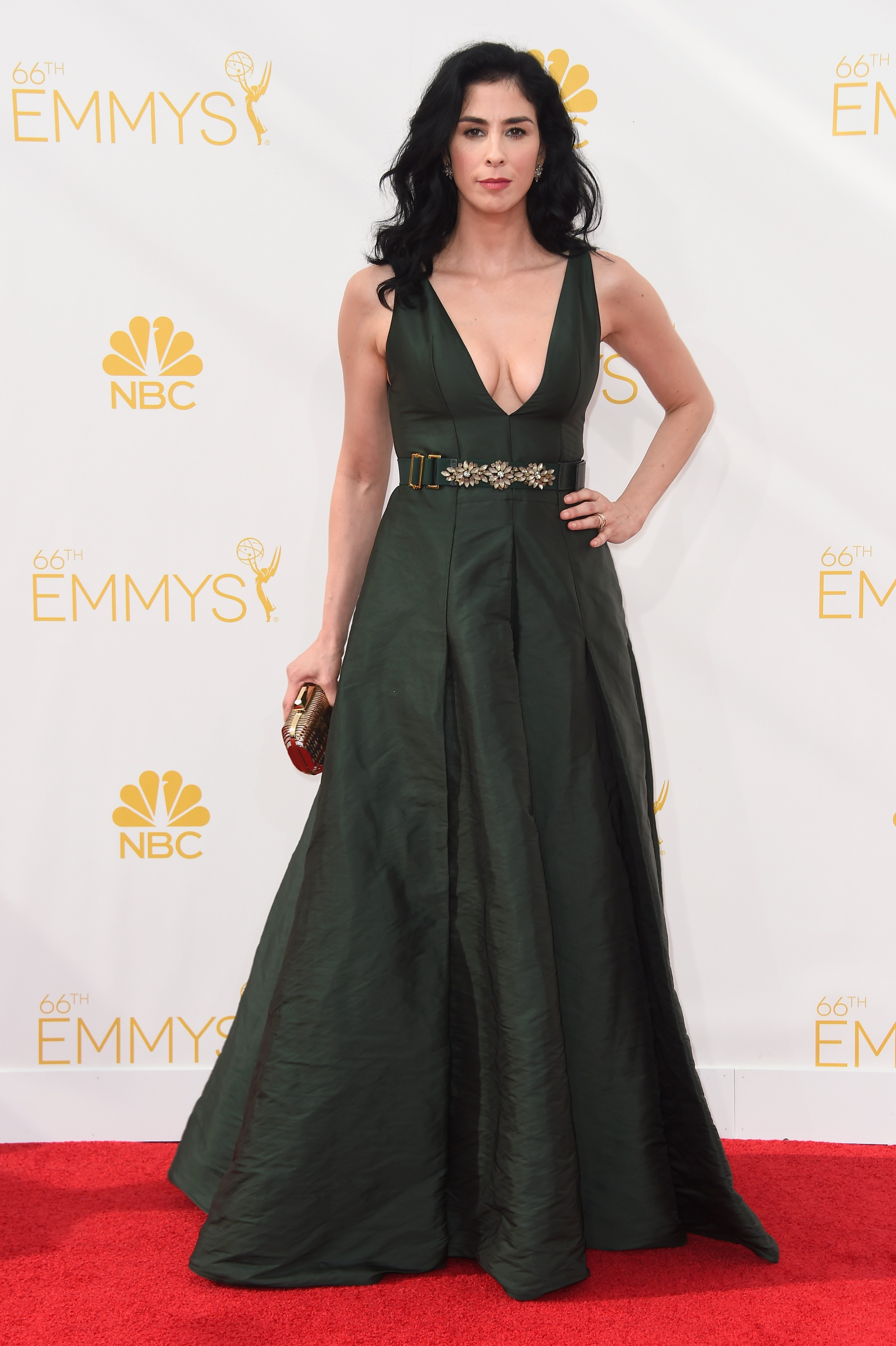 Sarah Silverman attends the 66th Annual Primetime Emmy Awards held at Nokia Theatre L.A. Live on August 25, 2014 in Los Angeles, California.