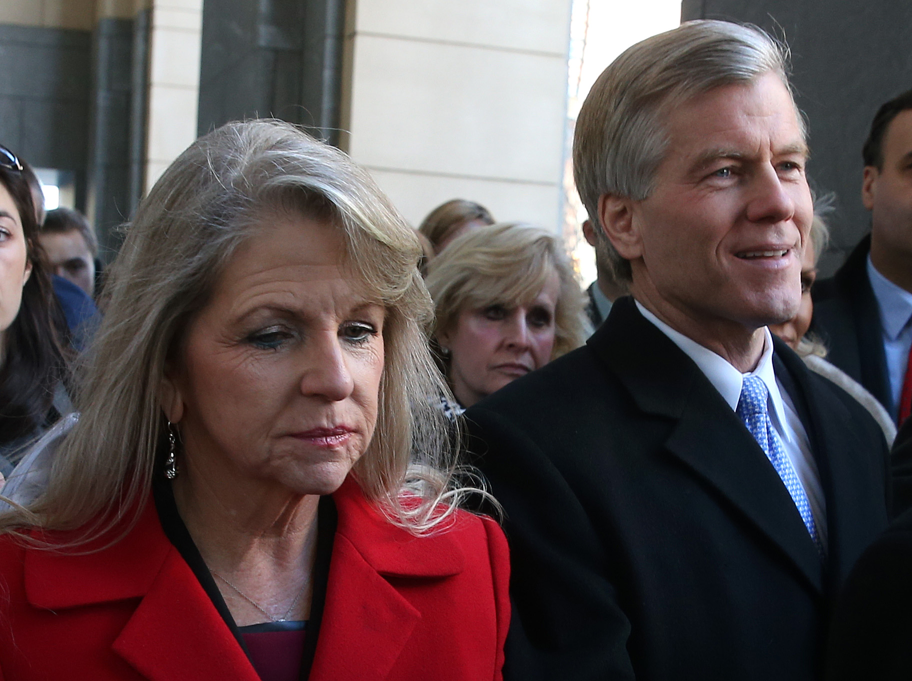 Former Virginia governor Bob McDonnell and his wife Maureen leave the court in Richmond, Va., on Jan. 24, 2014