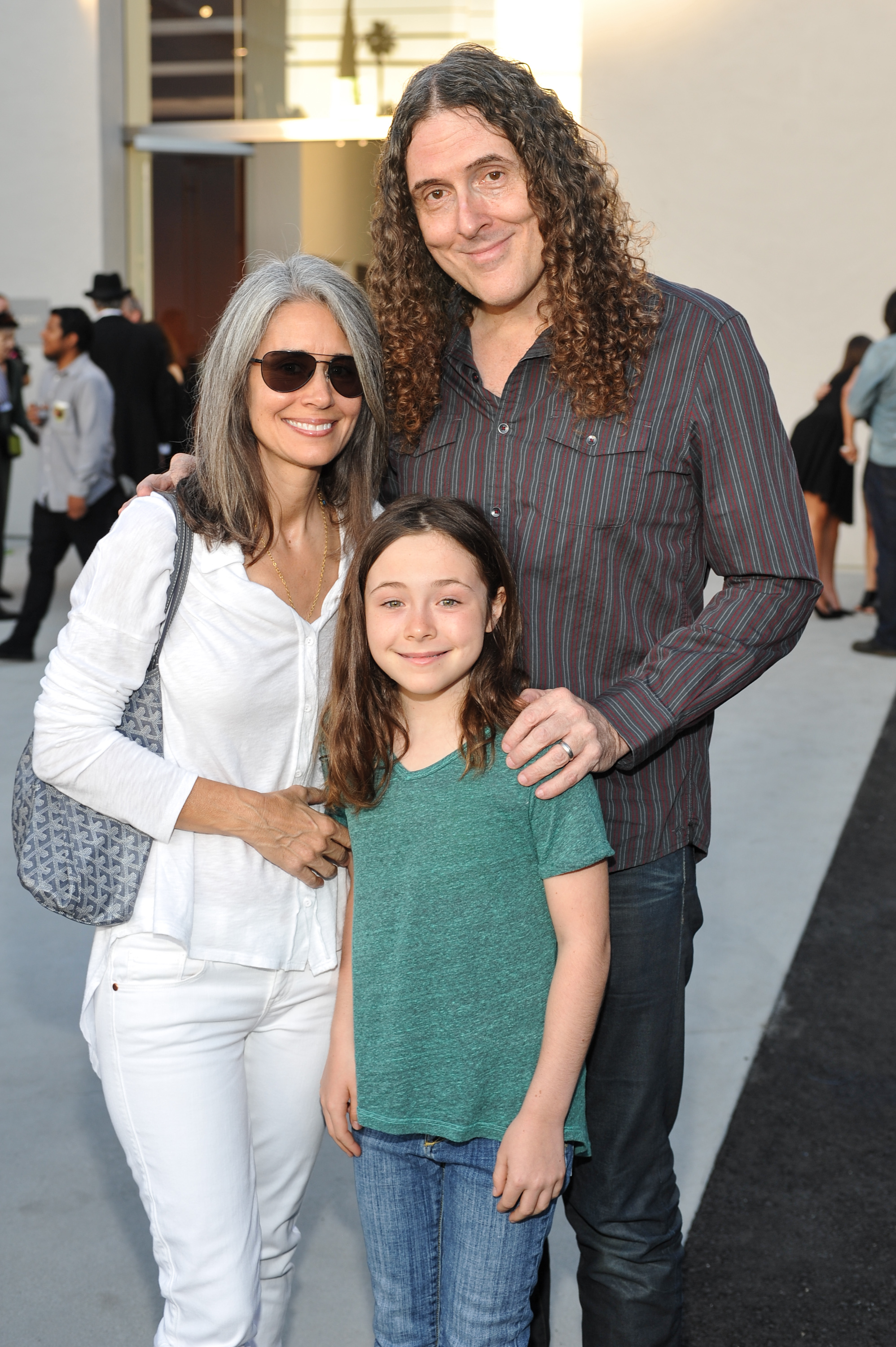 Suzanne Yankovic, Nina Yankovic and Weird Al Yankovic attend Kohn Gallery Grand Opening And Inaugural Exhibition: Mark Ryden: Gay Nineties West  on May 2, 2014 in Los Angeles, California.