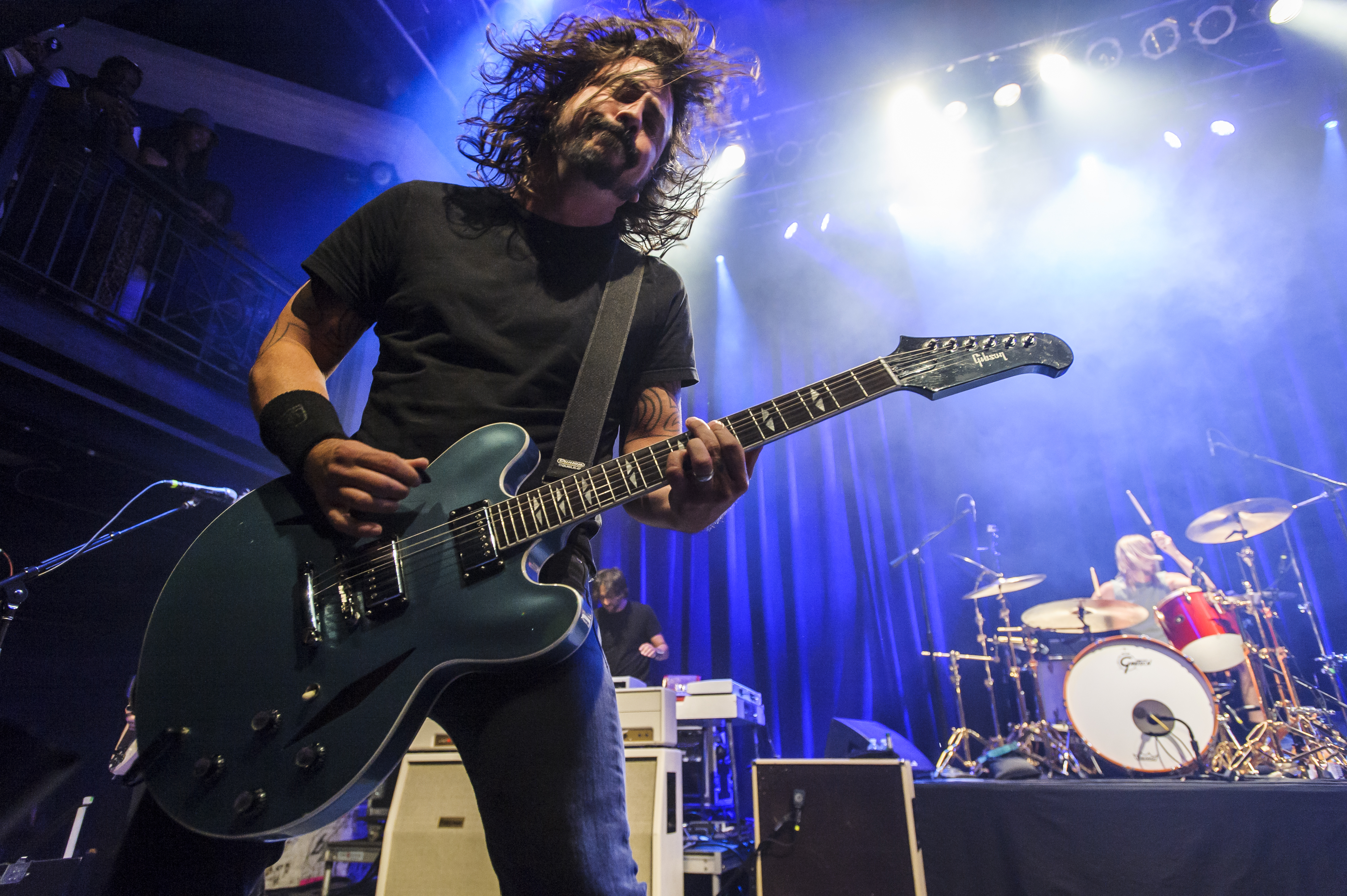 Dave Grohl of the Foo Fighters performs at the 9:30 Club in Washington D.C. as part of the birthday celebration for Big Tony of Trouble Funk.