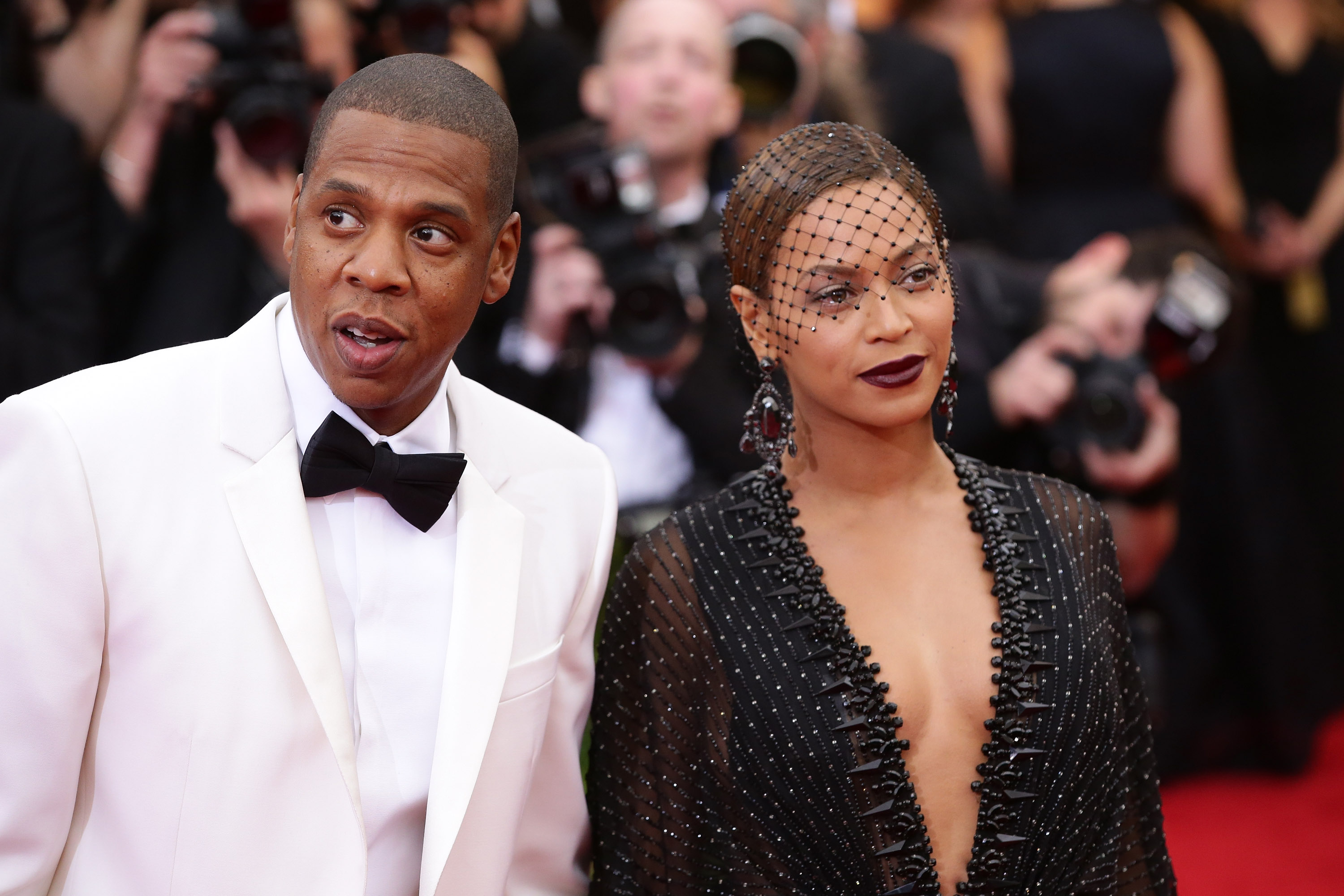 Beyonce and Jay-Z attend the  Charles James: Beyond Fashion  Costume Institute Gala at the Metropolitan Museum of Art on May 5, 2014 in New York City.