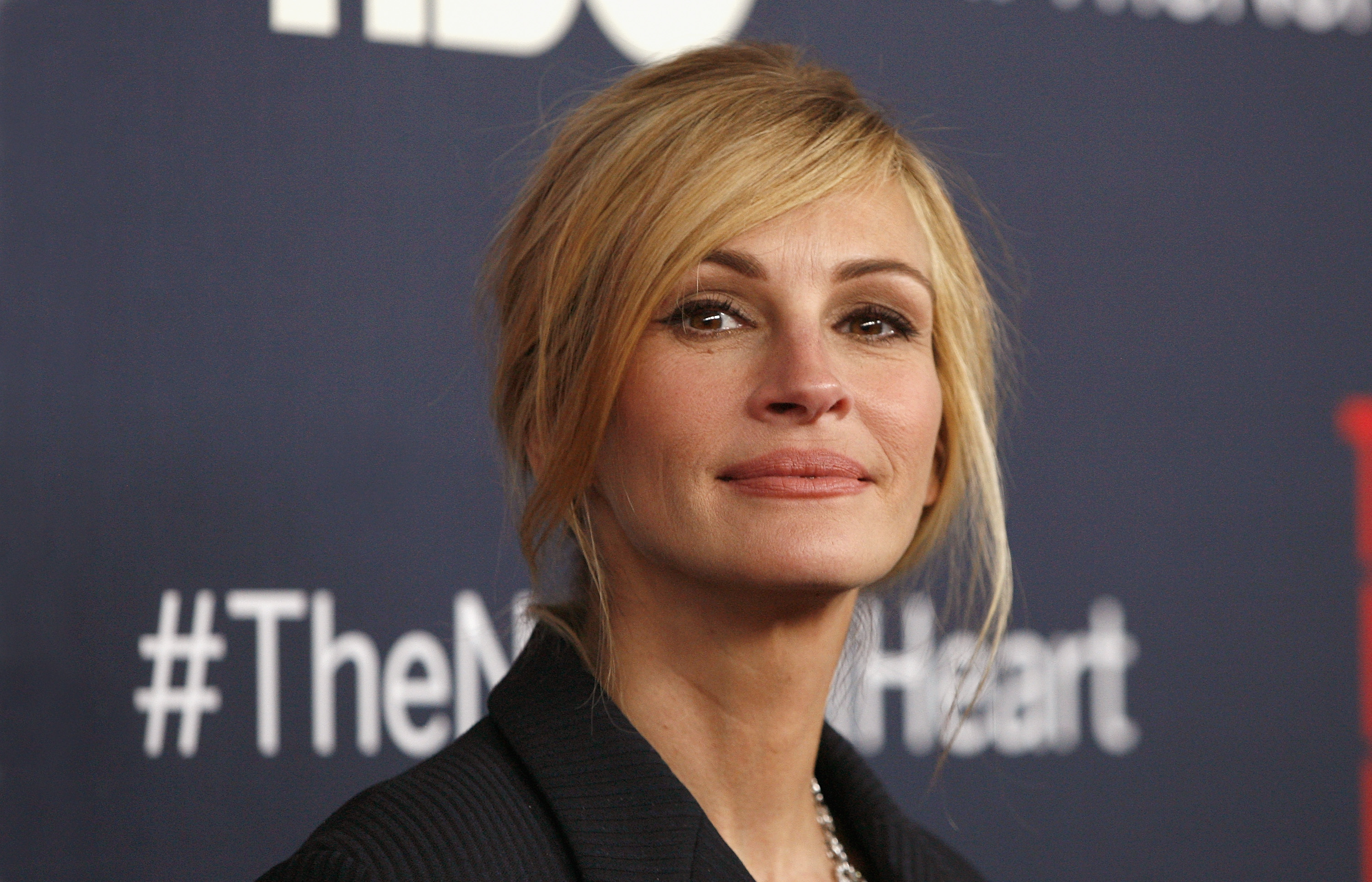 Actress Julia Roberts attends  The Normal Heart  New York Screening at Ziegfeld Theater on May 12, 2014 in New York City.