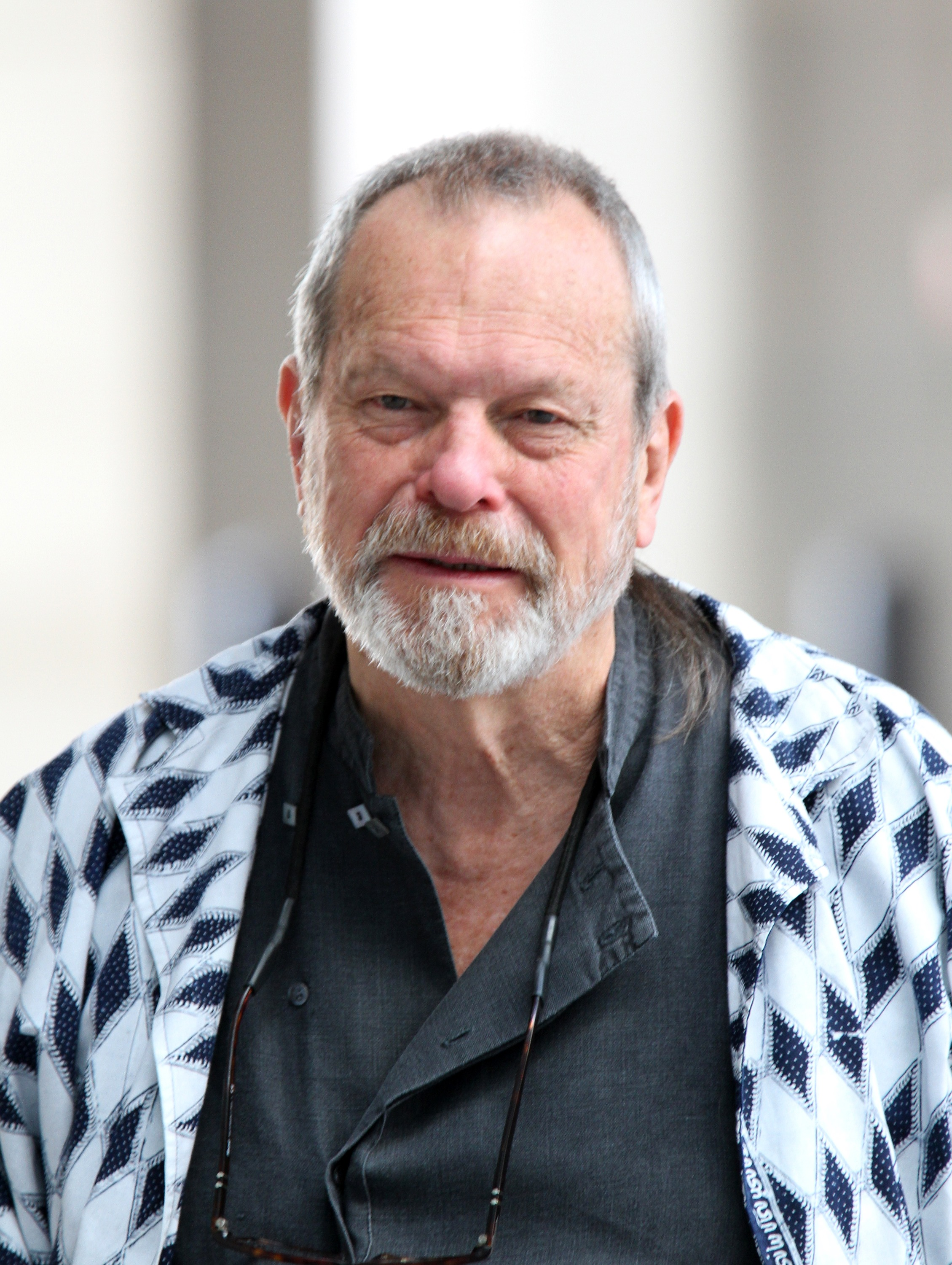 Terry Gilliam sighted arriving at BBC studios on June 1, 2014 in London, England.