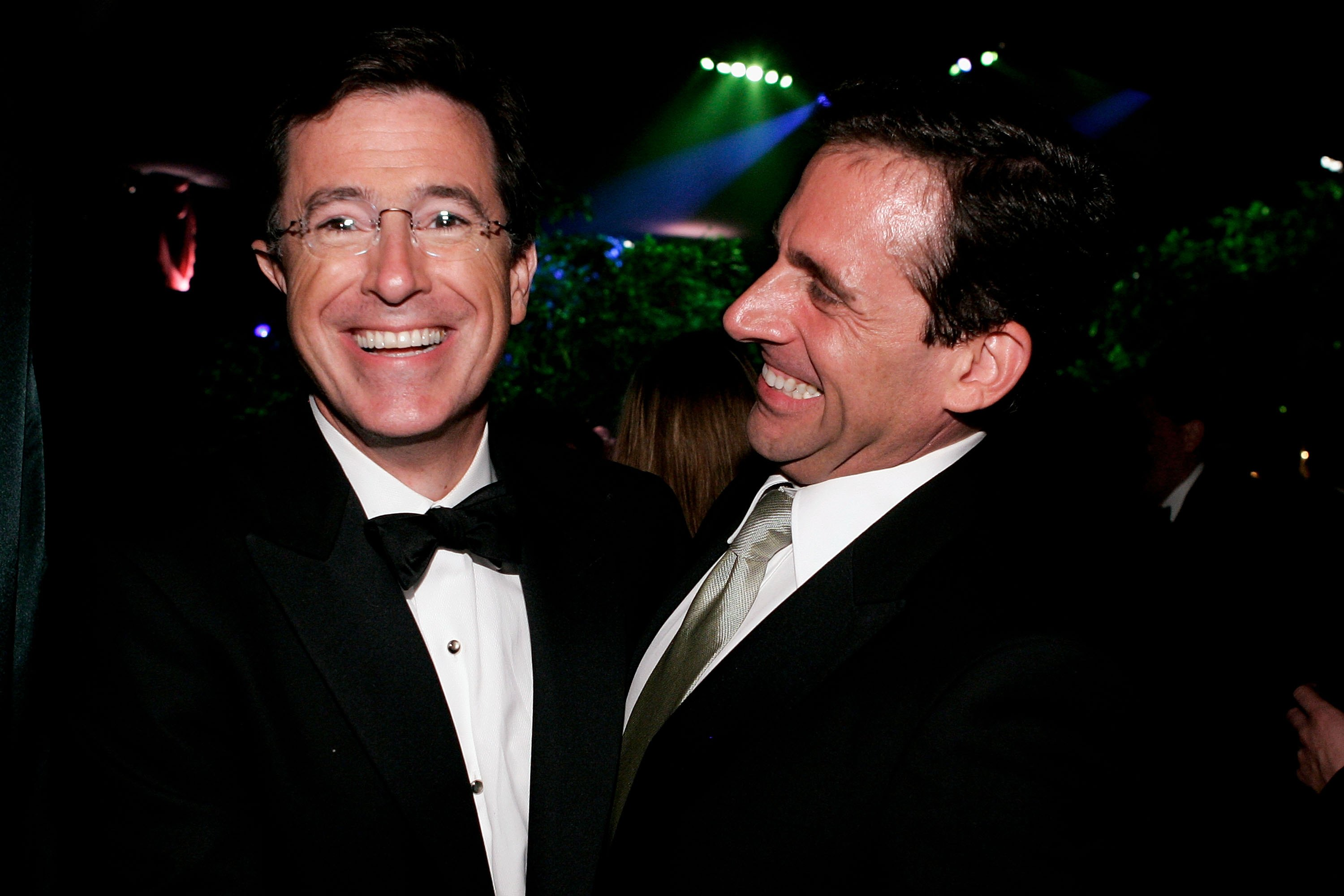 TV host Stephen Colbert and actor Steve Carell attends the Governor's Ball after the 58th Annual Primetime Emmy Awards at the Shrine Auditorium on August 27, 2006 in Los Angeles, California.