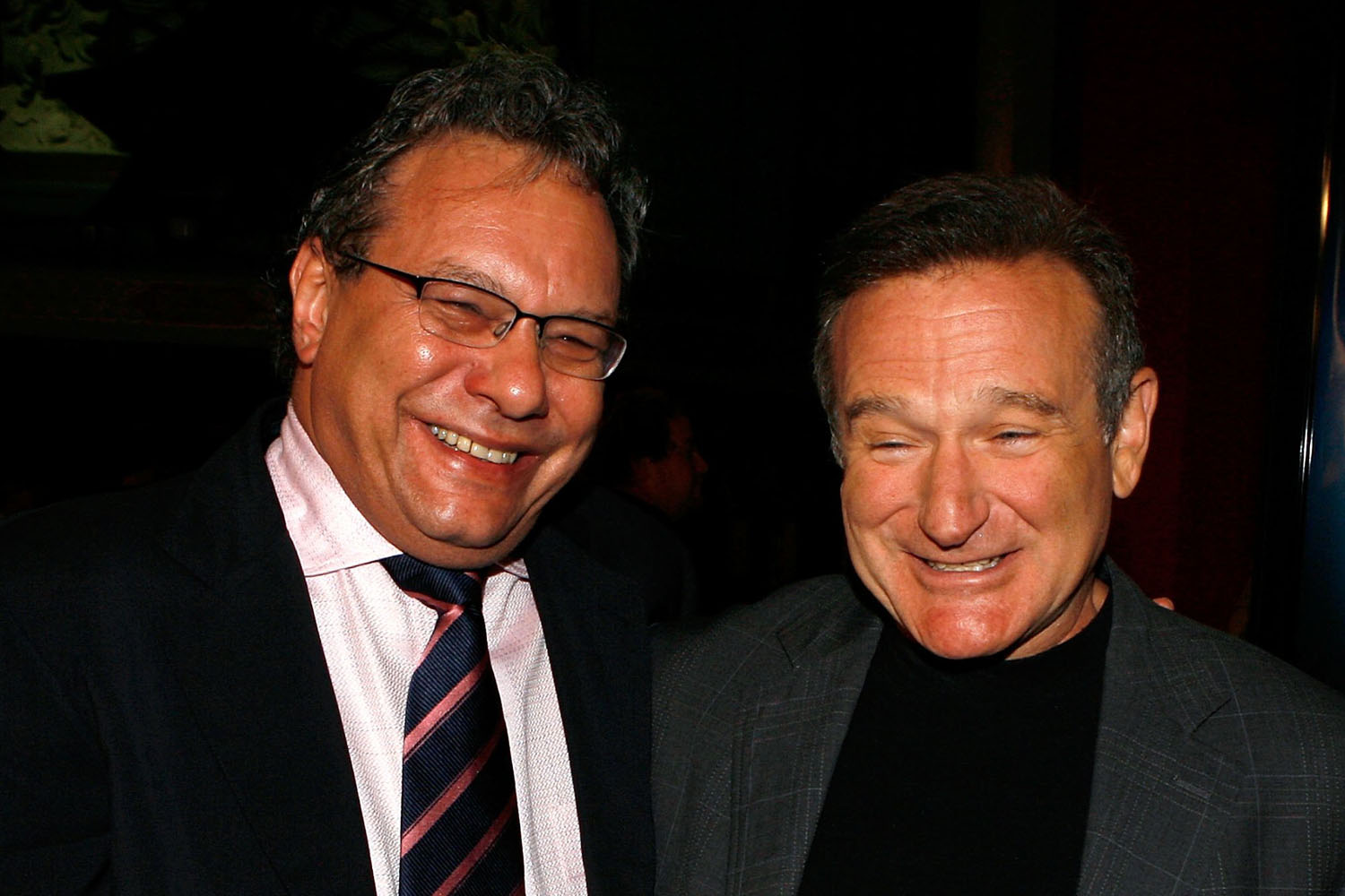 Lewis Black and Robin Williams