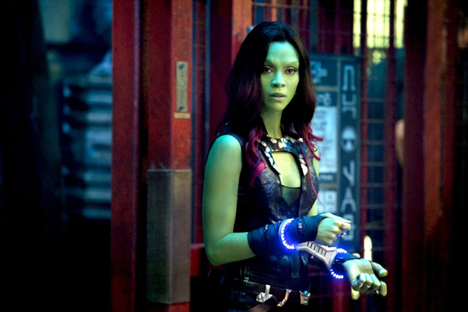 Zoe Saldana as Gamora in Marvel's Guardians of the Galaxy