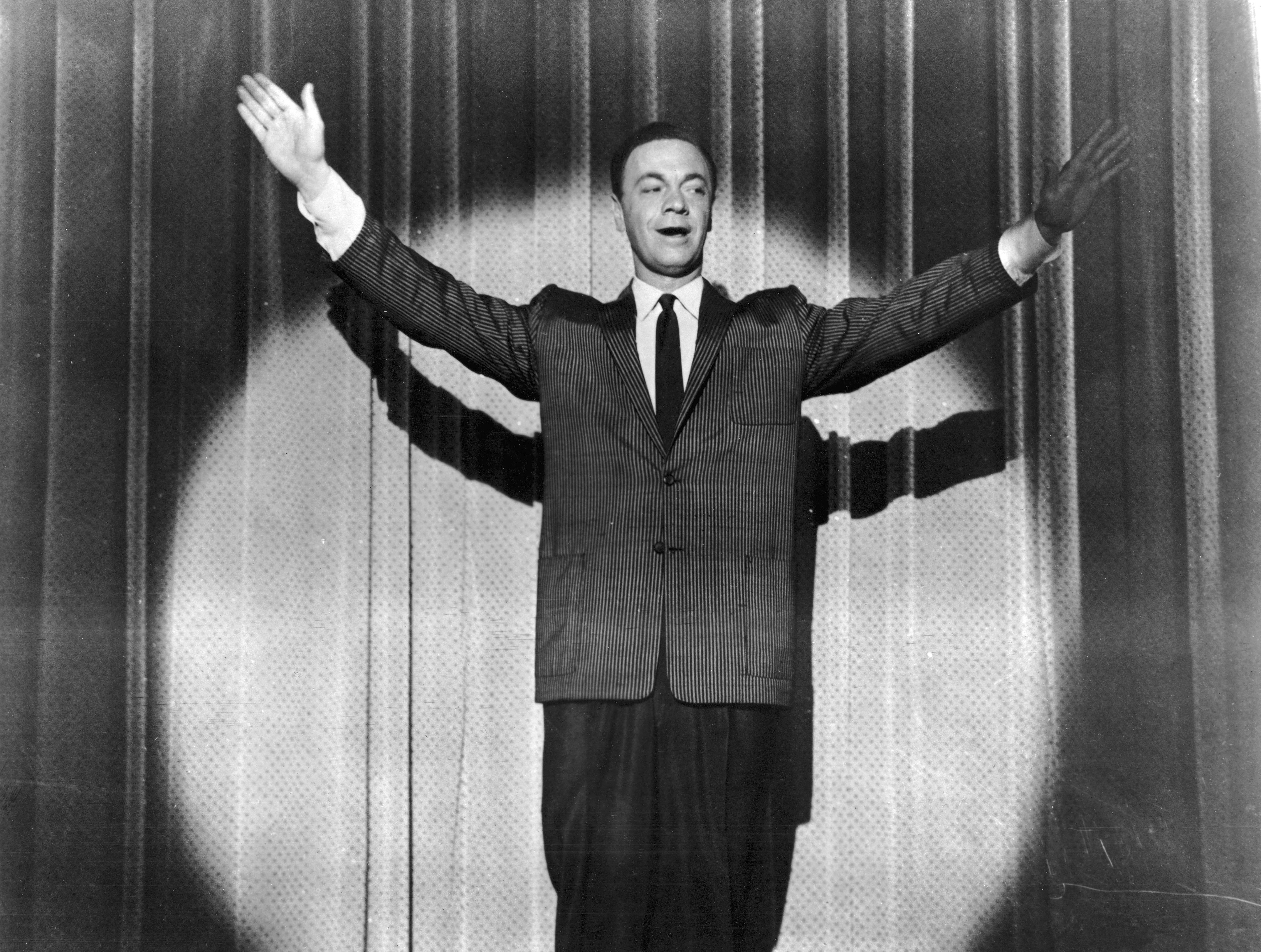 American disc jockey and rock 'n' roll promoter Alan Freed plays himself in the film 'Go, Johnny, Go!', directed by Paul Landres in 1959. Freed's ashes will be removed from the Rock and Roll Hall of Fame and Museum in Cleveland, Ohio on Tuesday, August 5, 2014.