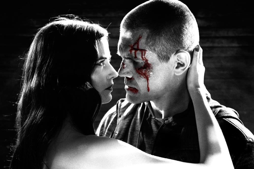 From left: Eva Green, Josh Brolin in Sin City: A Dame to Kill For, 2014.