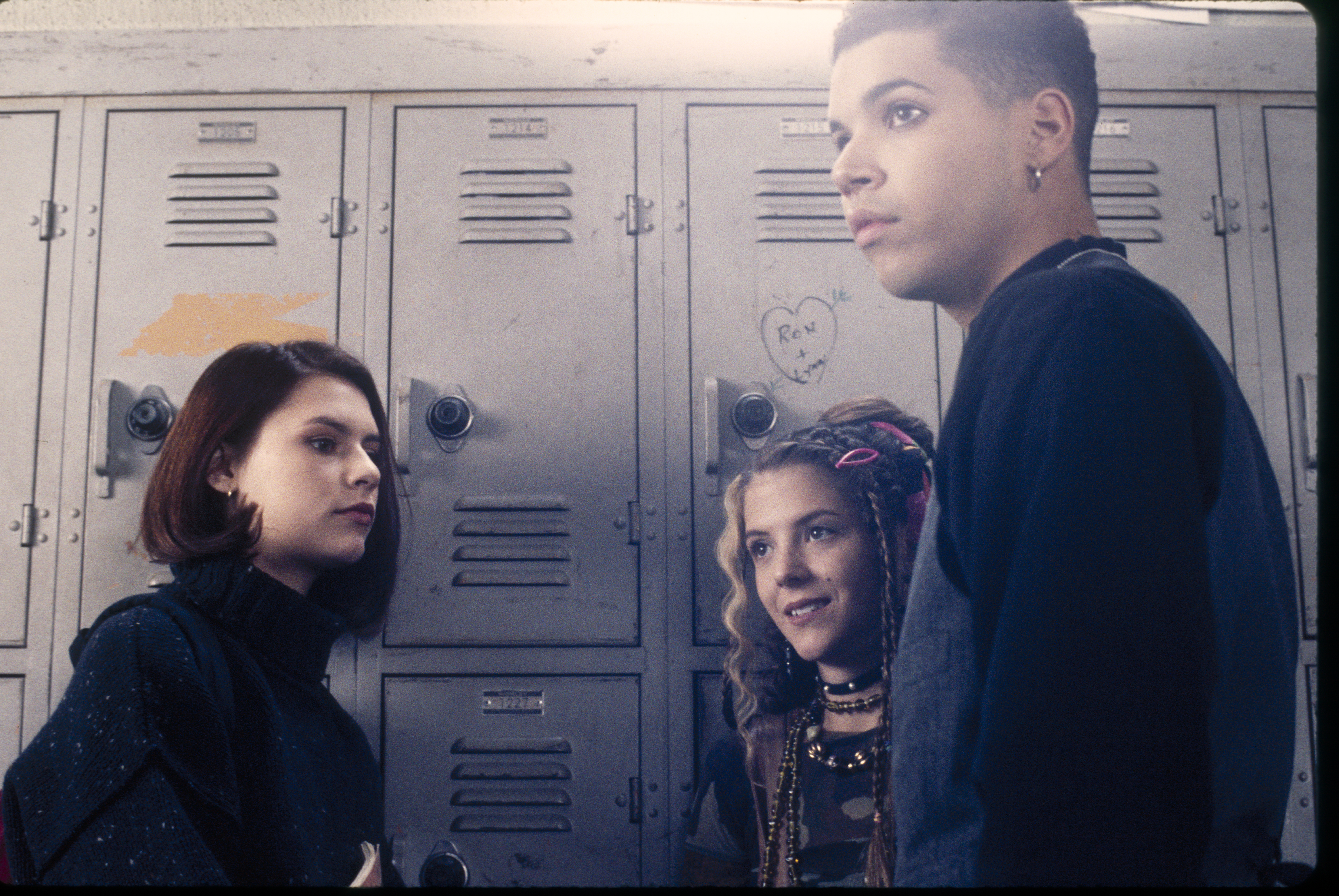 Claire Danes, A.J. Langer and Wilson Cruz film the  Betrayal  episode of  My So-Called Life.