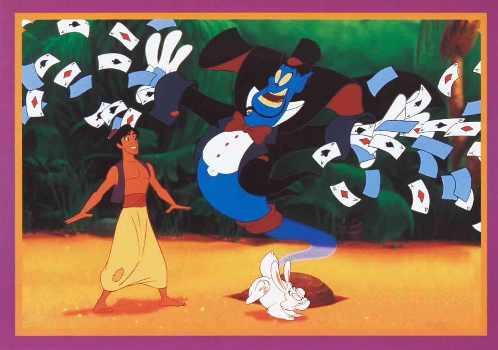 Williams lent his substantial talents to voicing Genie in Disney's 1992 animated film <i>Aladdin</i>.