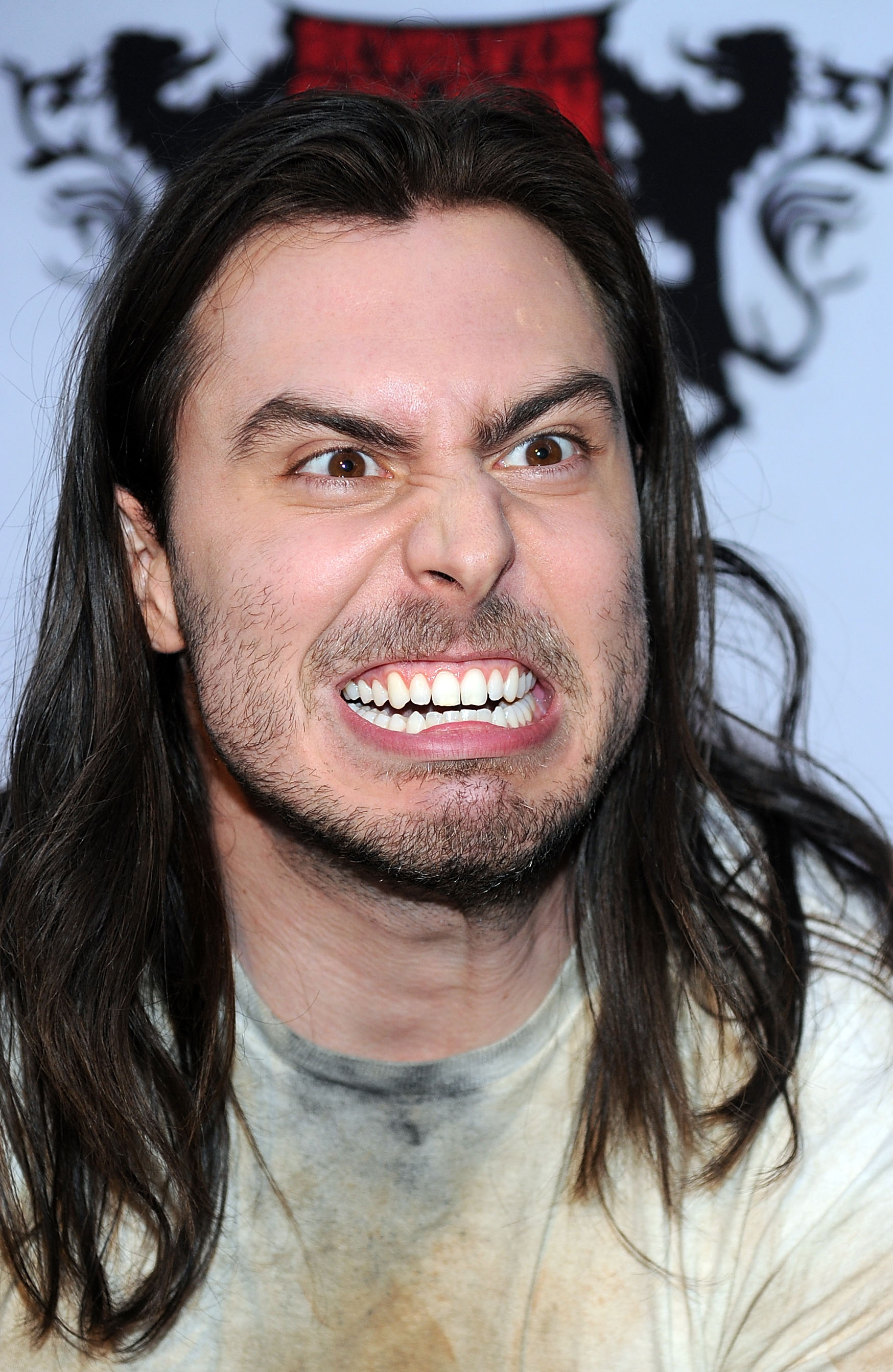 Musician Andrew W.K. arrives at the 2nd annual Revolver Golden Gods Awards held at Club Nokia on April 8, 2010 in Los Angeles, California.