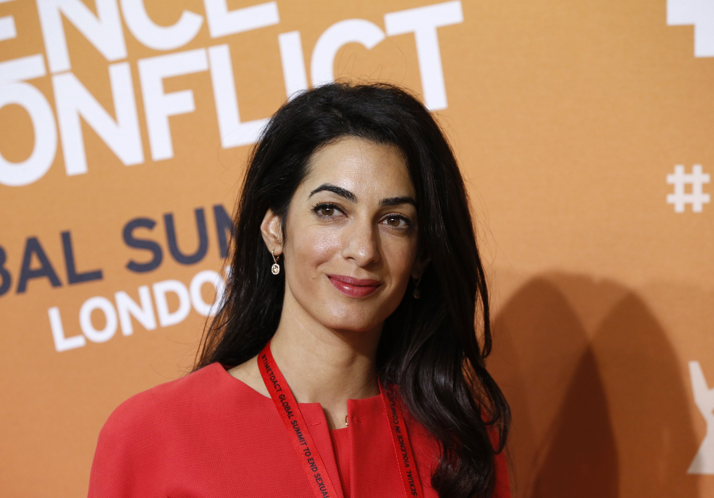 Human-rights lawyer Amal Alamuddin attends the End Sexual Violence in Conflict summit in London on June 12, 2014