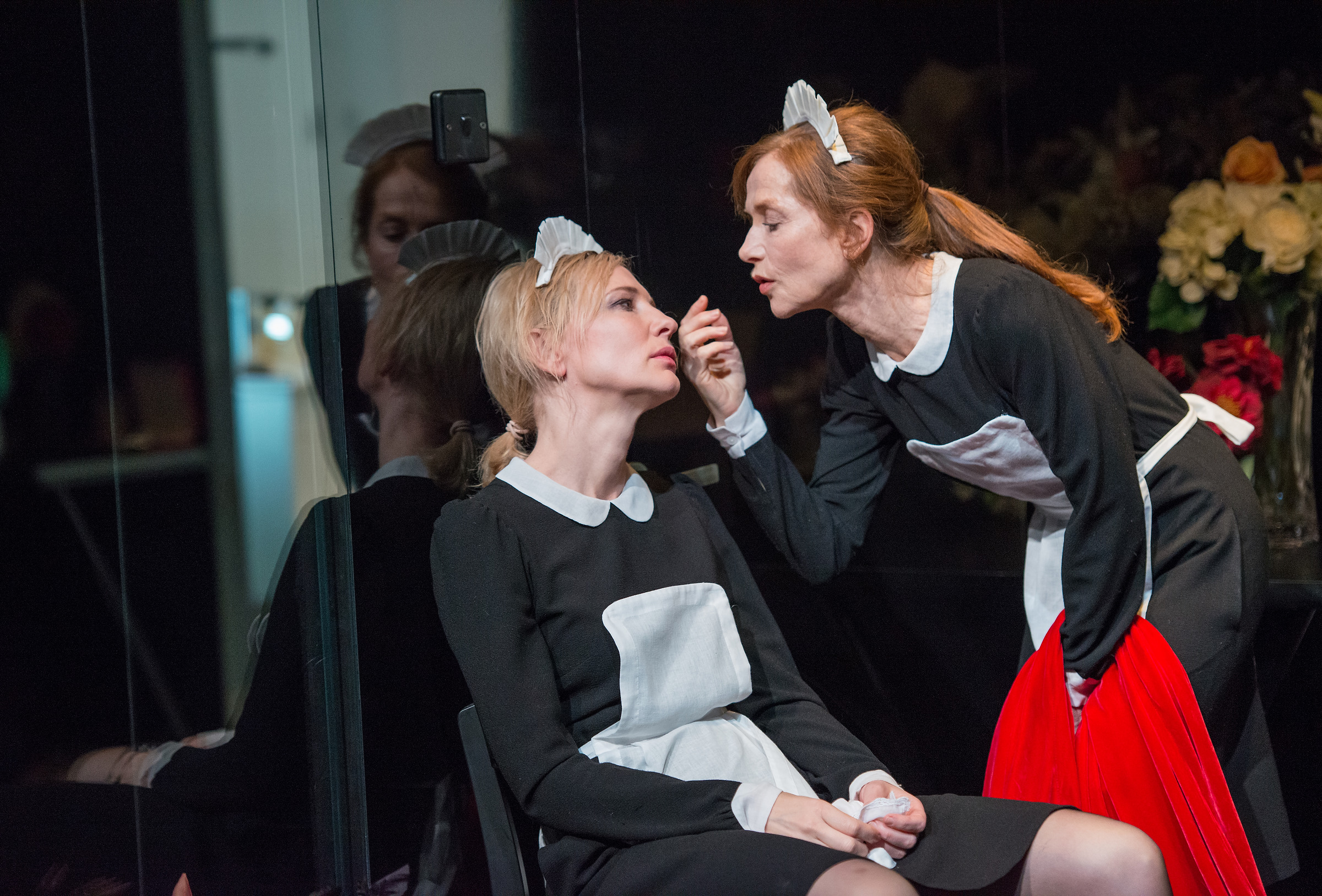 Cate Blanchett, left, and Isabelle Huppert, in a scene from the Sydney Theatre Company's production of  The Maids, currently performing at the Lincoln Center Festival in New York.