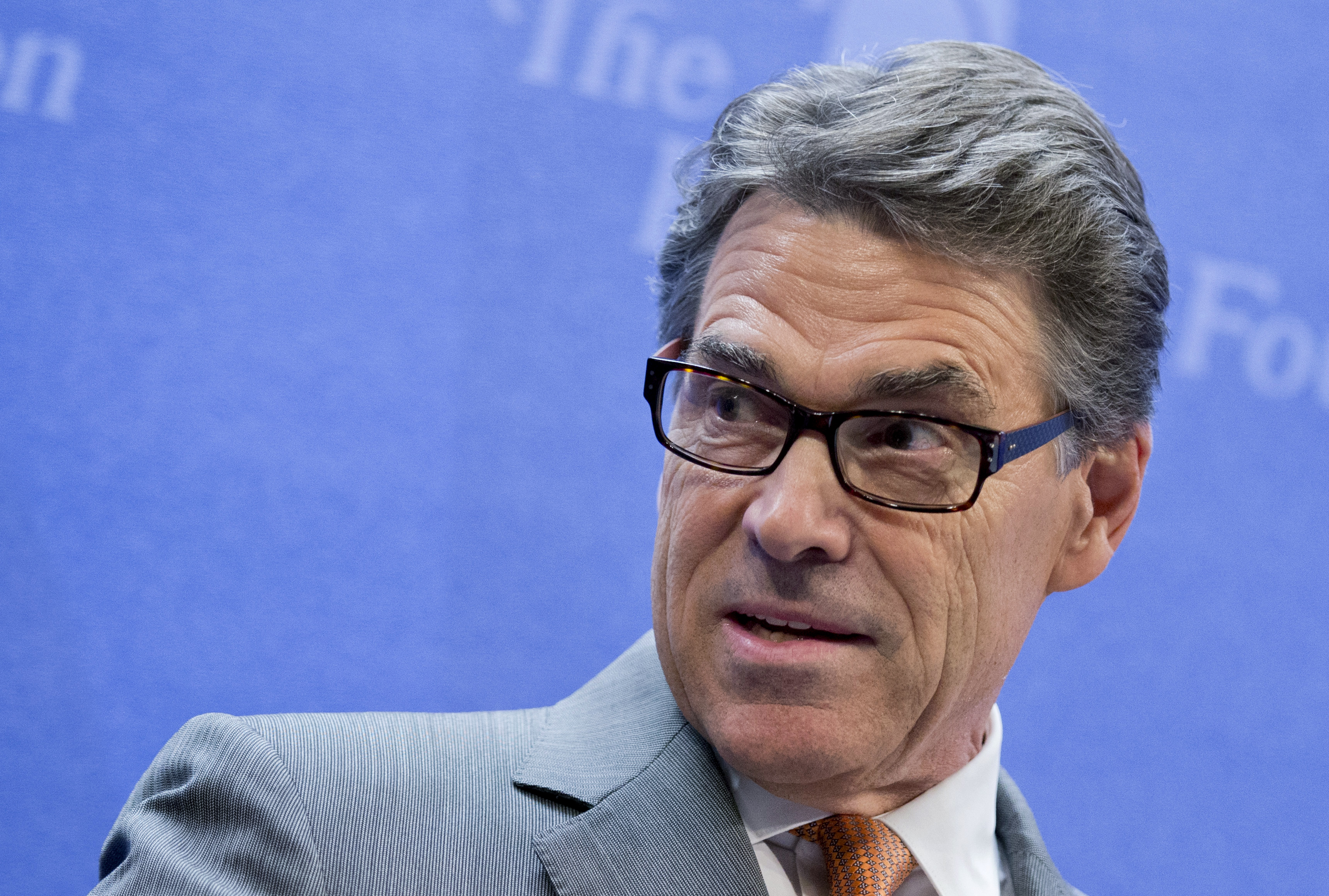 Texas Gov. Rick Perry speaks at the Heritage Foundation in Washington.