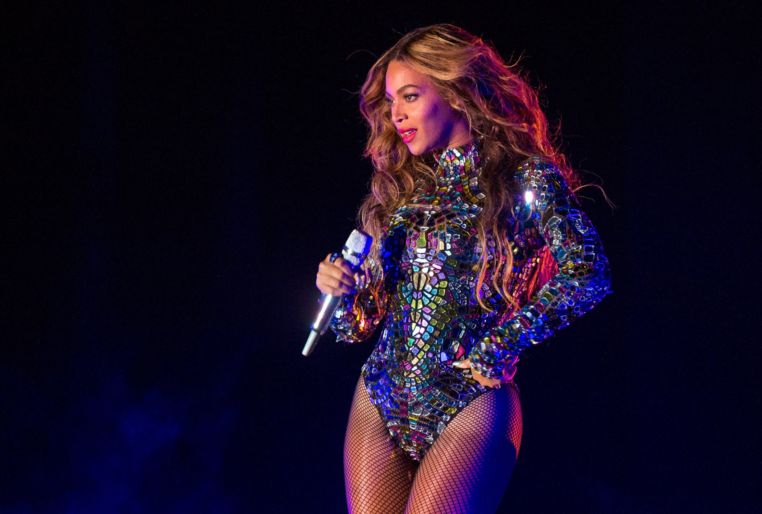 Beyonce performs onstage during the 2014 MTV Video Music Awards at The Forum on Aug. 24, 2014 in Inglewood, Calif.