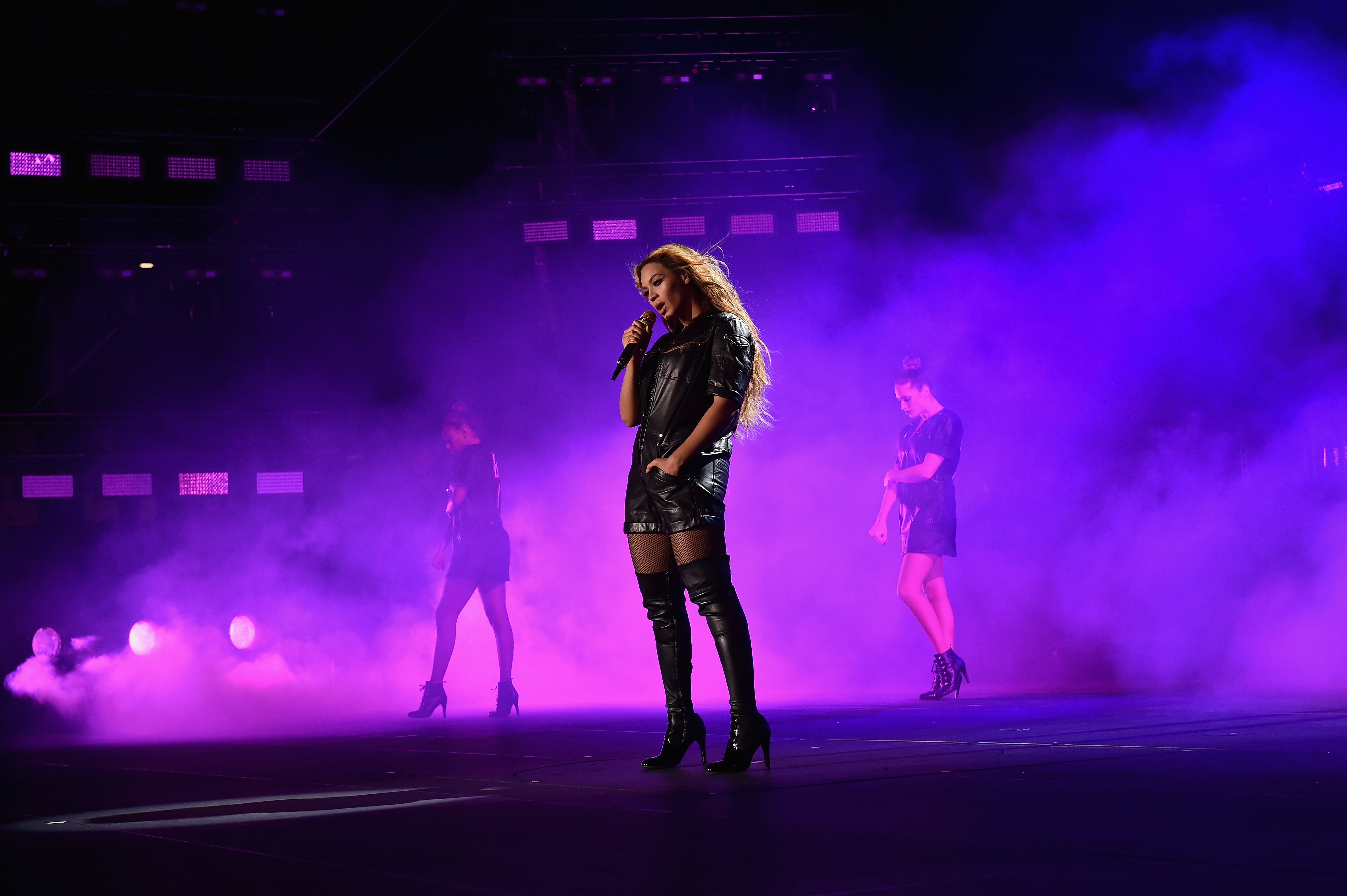 Beyonce performs onstage during the  On The Run Tour: Beyonce And Jay-Z  at Soldier Field on July 24, 2014 in Chicago, Illinois.