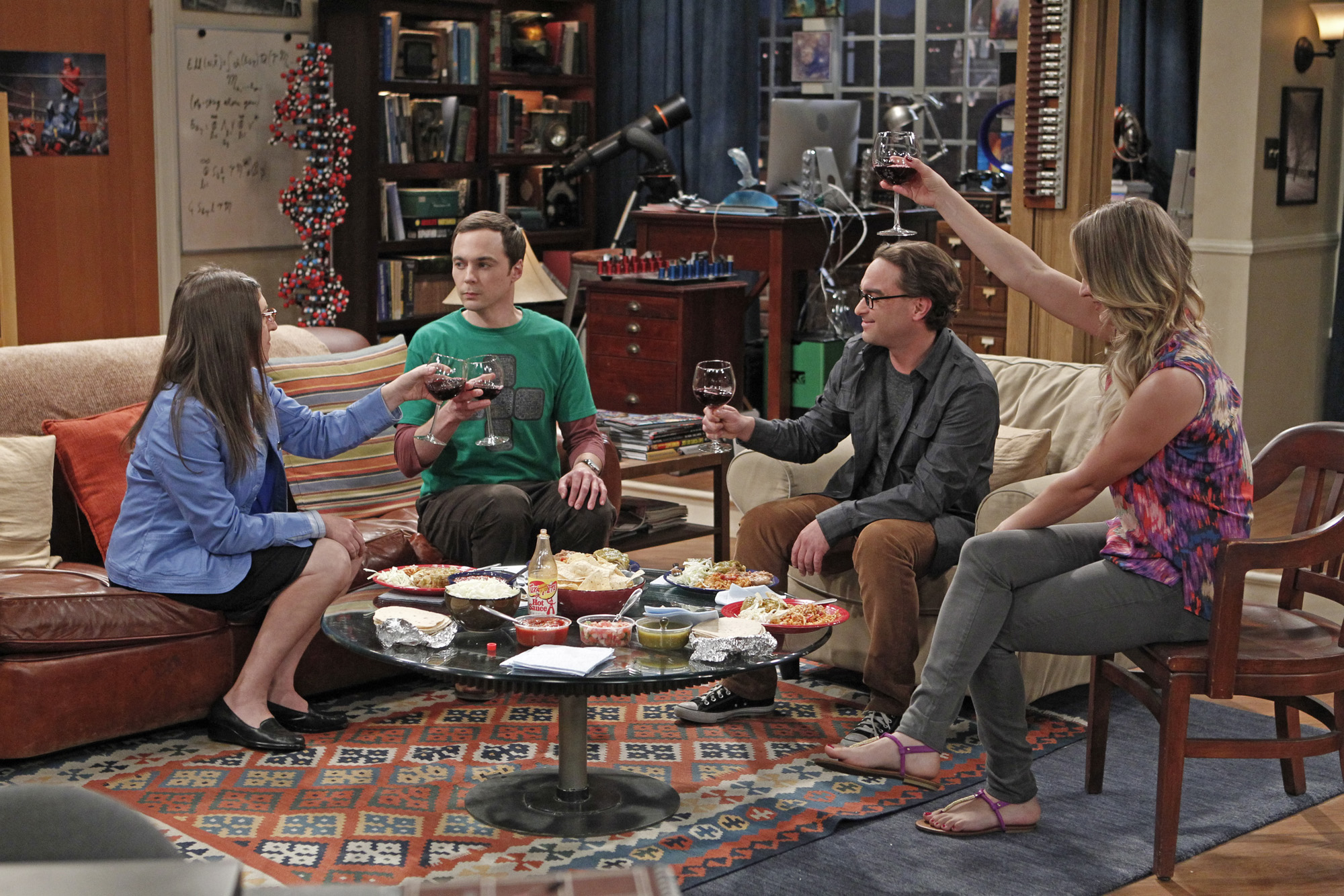 Sheldon faces a personal crisis after deciding he's wasting his time with string theory, onThe Big Bang Theory on April 10, 2013.