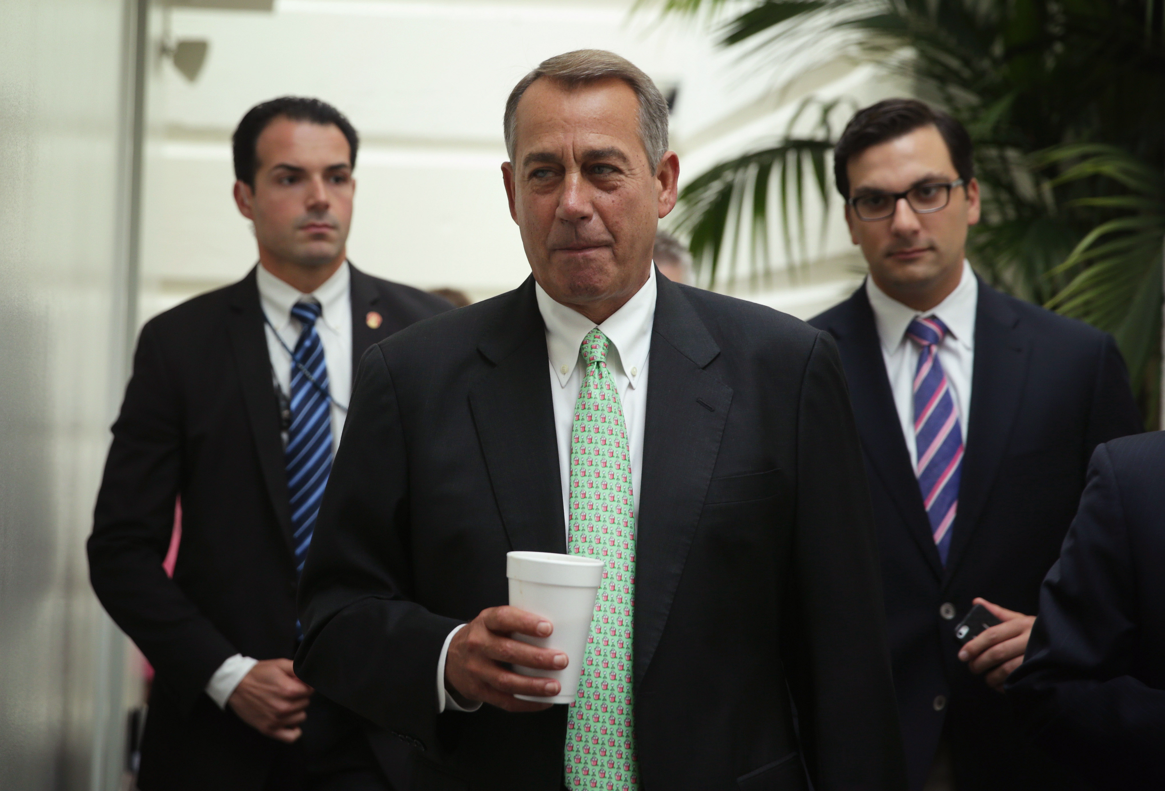 Nothing doing—ever: House Speaker John Boehner, after meeting with his stalled caucus on border legislation