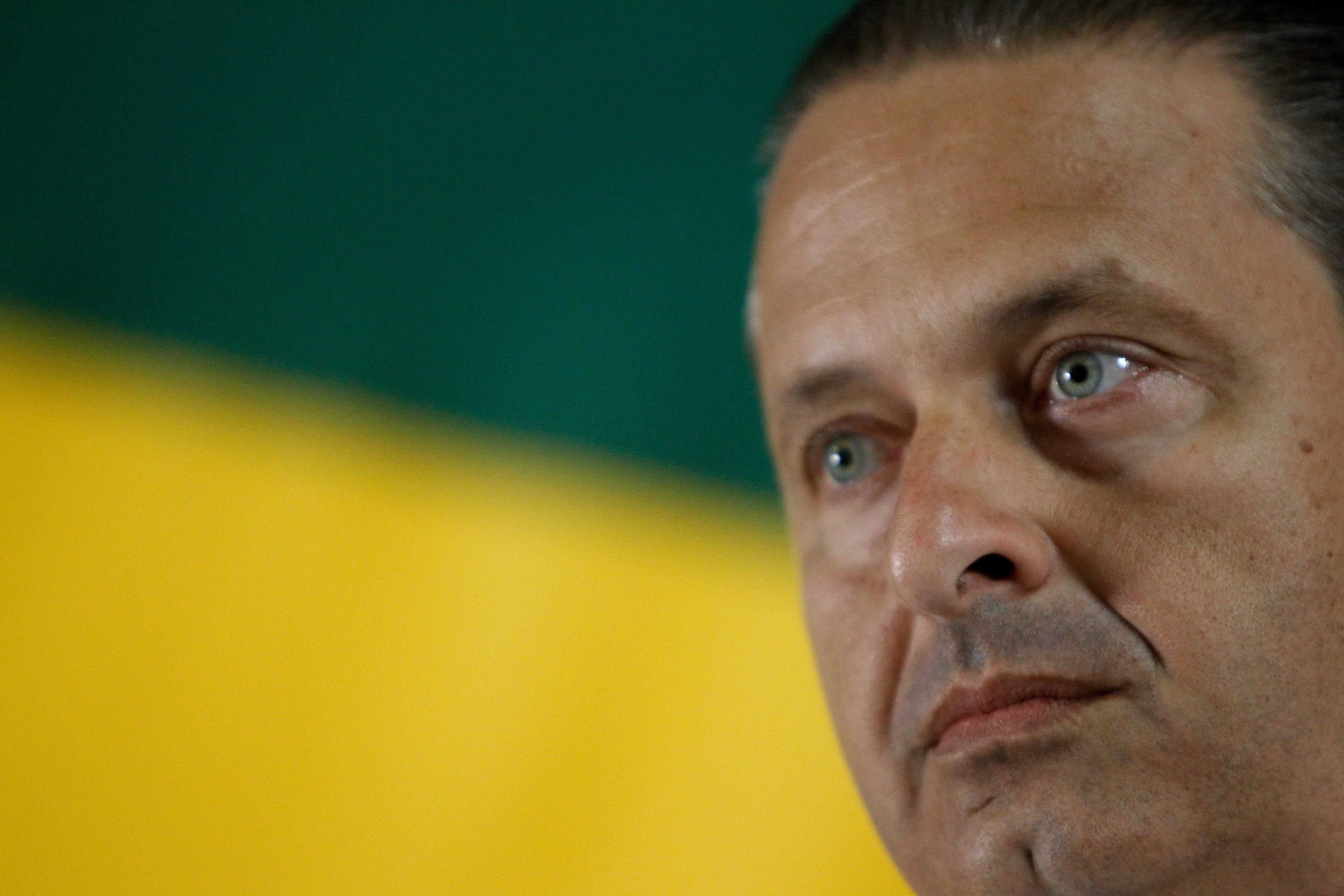Eduardo Campos, presidential candidate of the Brazilian Socialist Party, during an event in Brasília  on Oct. 5, 2013