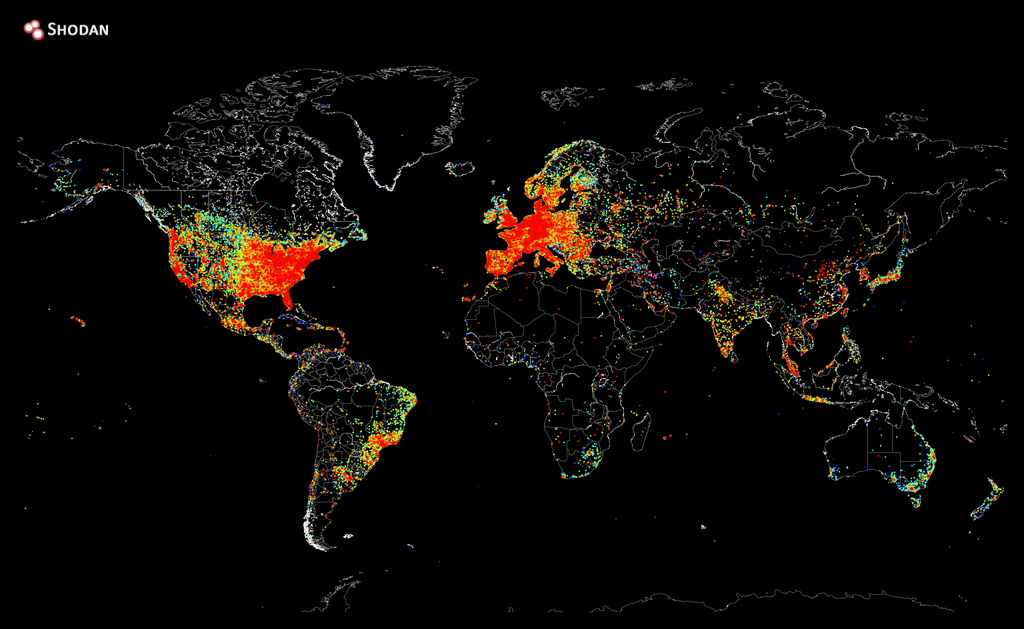 A map showing every device connected to the Internet.
