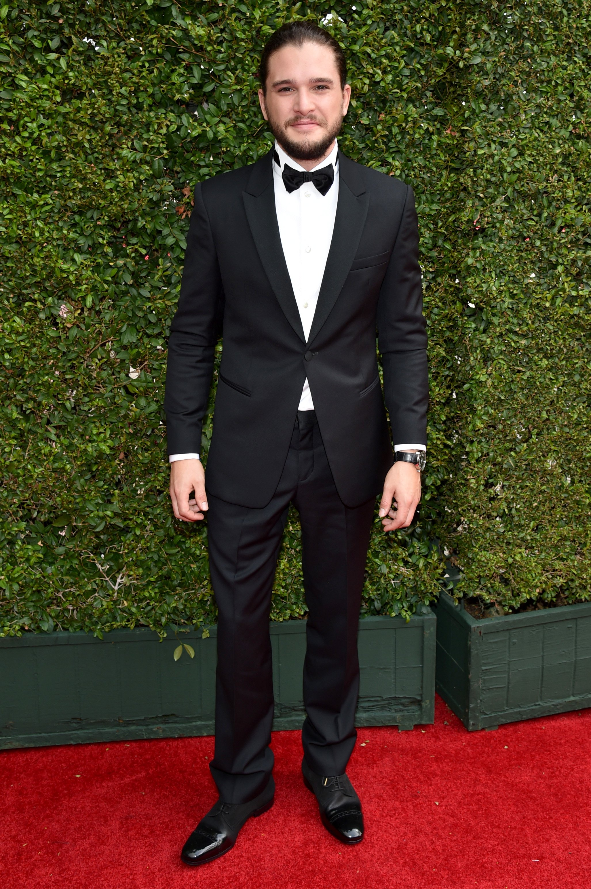 Kit Harington arrives at the 66th Primetime Emmy Awards at the Nokia Theatre L.A. Live on Monday, Aug. 25, 2014, in Los Angeles.