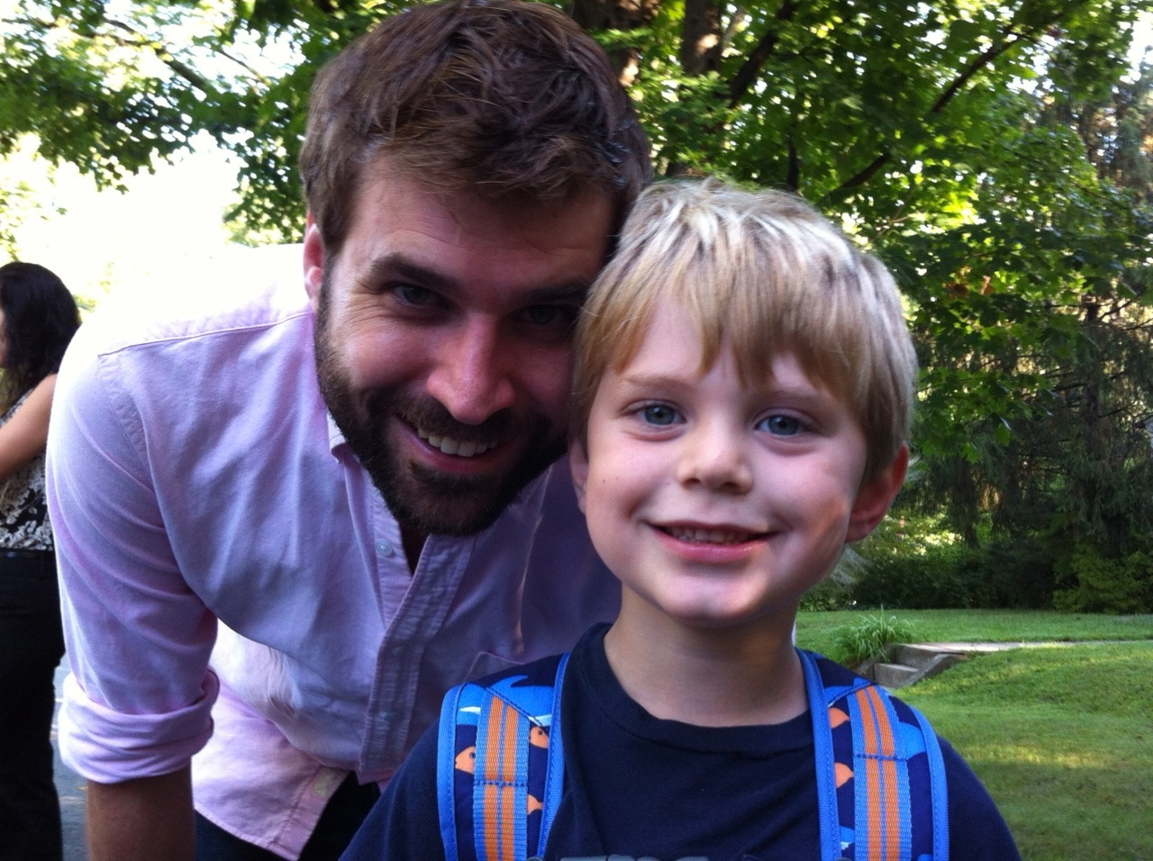 The author with his son Jack.