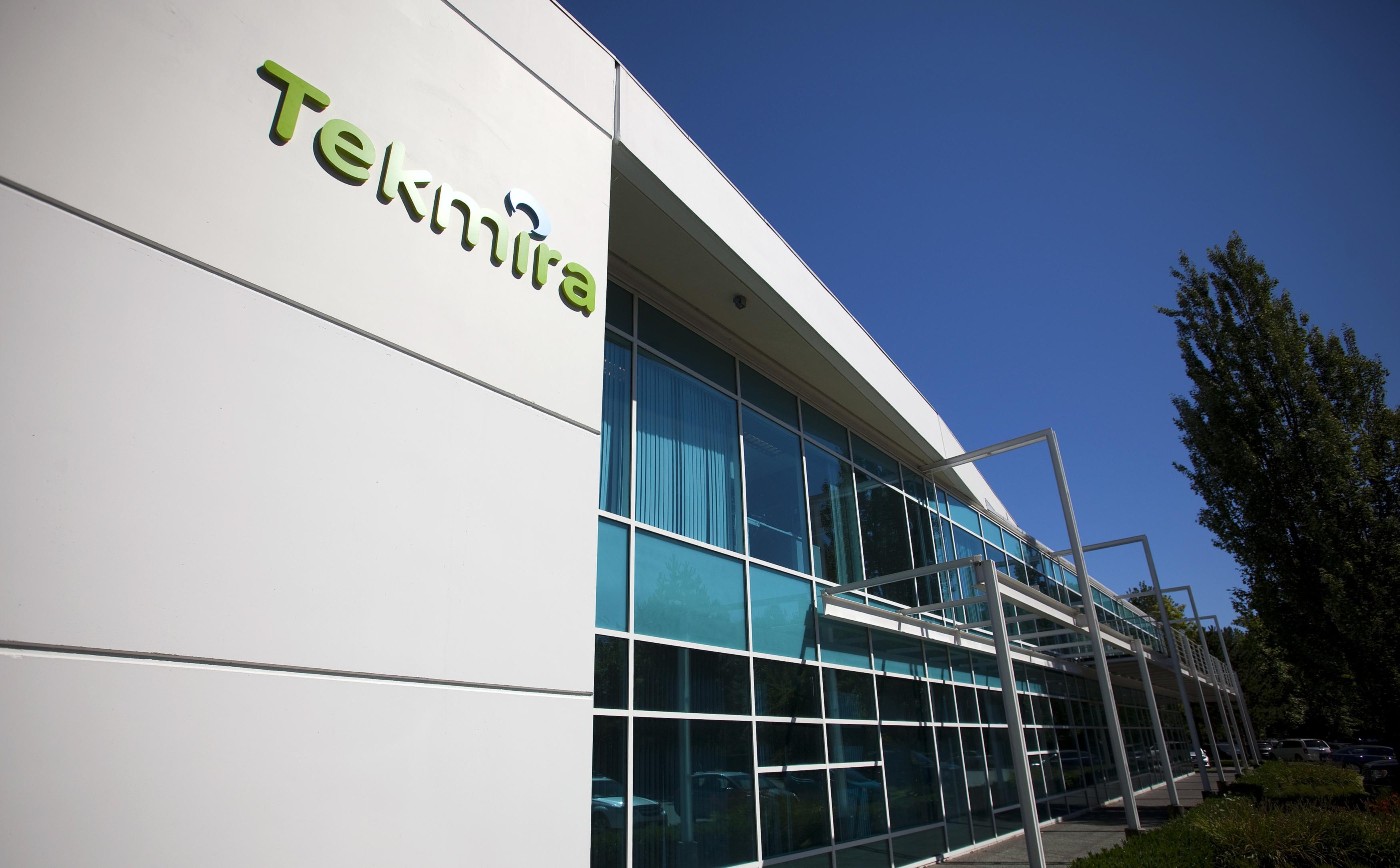 Tekmira Pharmaceuticals Corporation's headquarters in Burnaby, British Columbia Aug. 5, 2014.