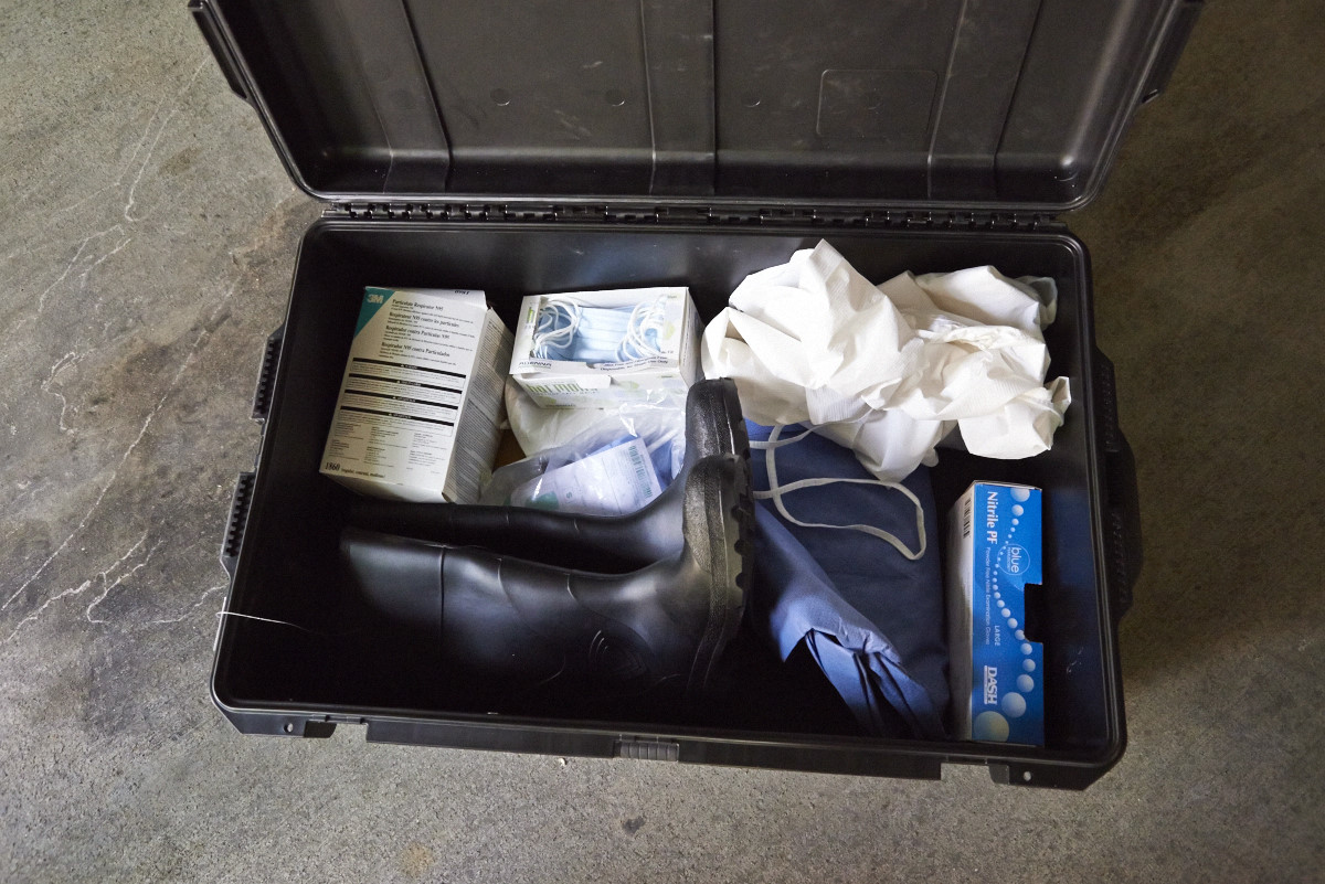 Each EIS officer sent to West Africa for the surge response is provided with these necessities.
