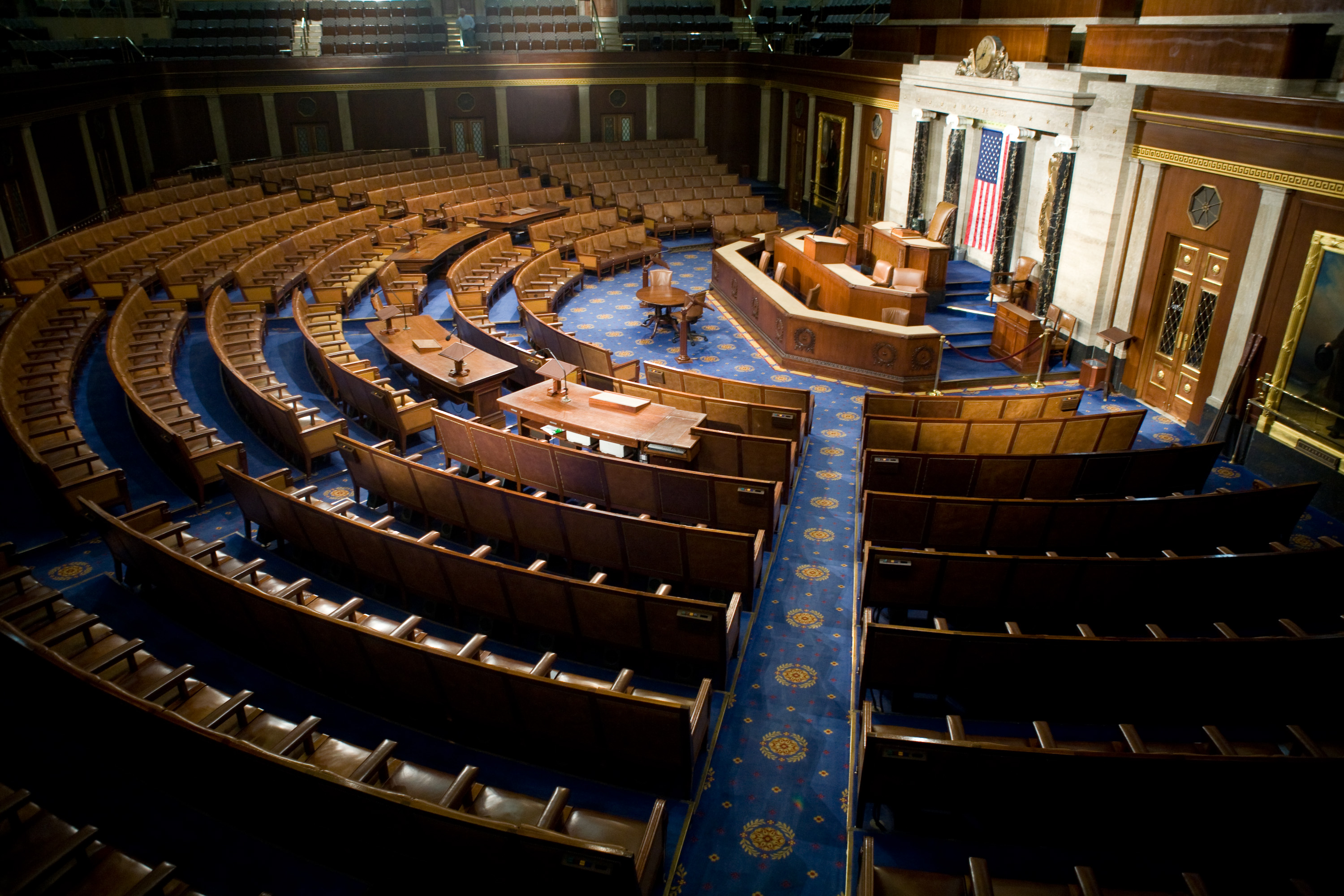 The U.S. House of Representatives chamber is seen December 8, 2008 in Washington.