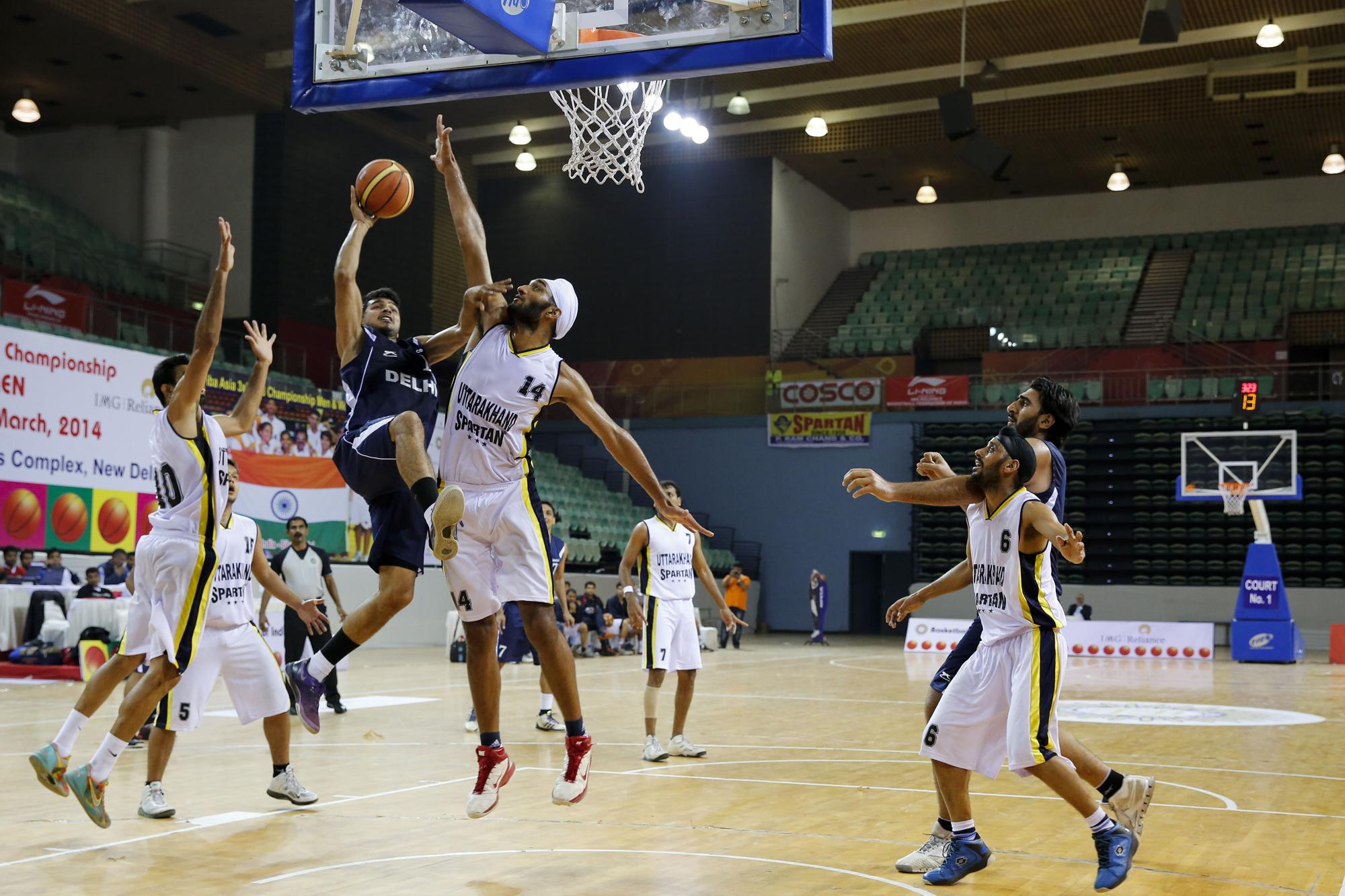 Uttrakhand vs Delhi 64th Senior National Basketball Championship, Delhi, 2014.