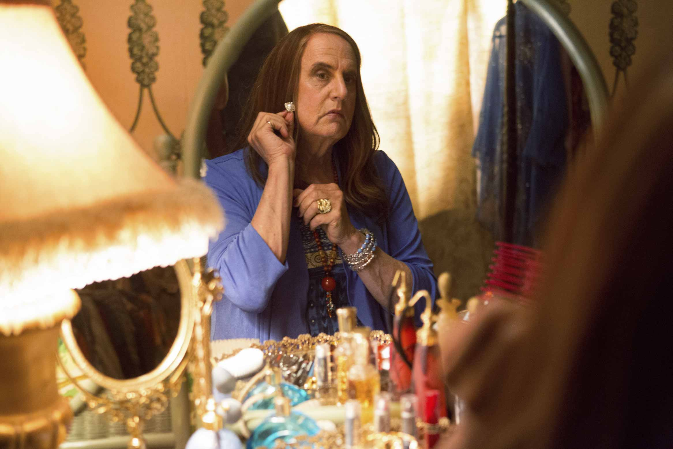 Toplay Pfefferman, Tambor says he had to learn how to be a woman—just like his character