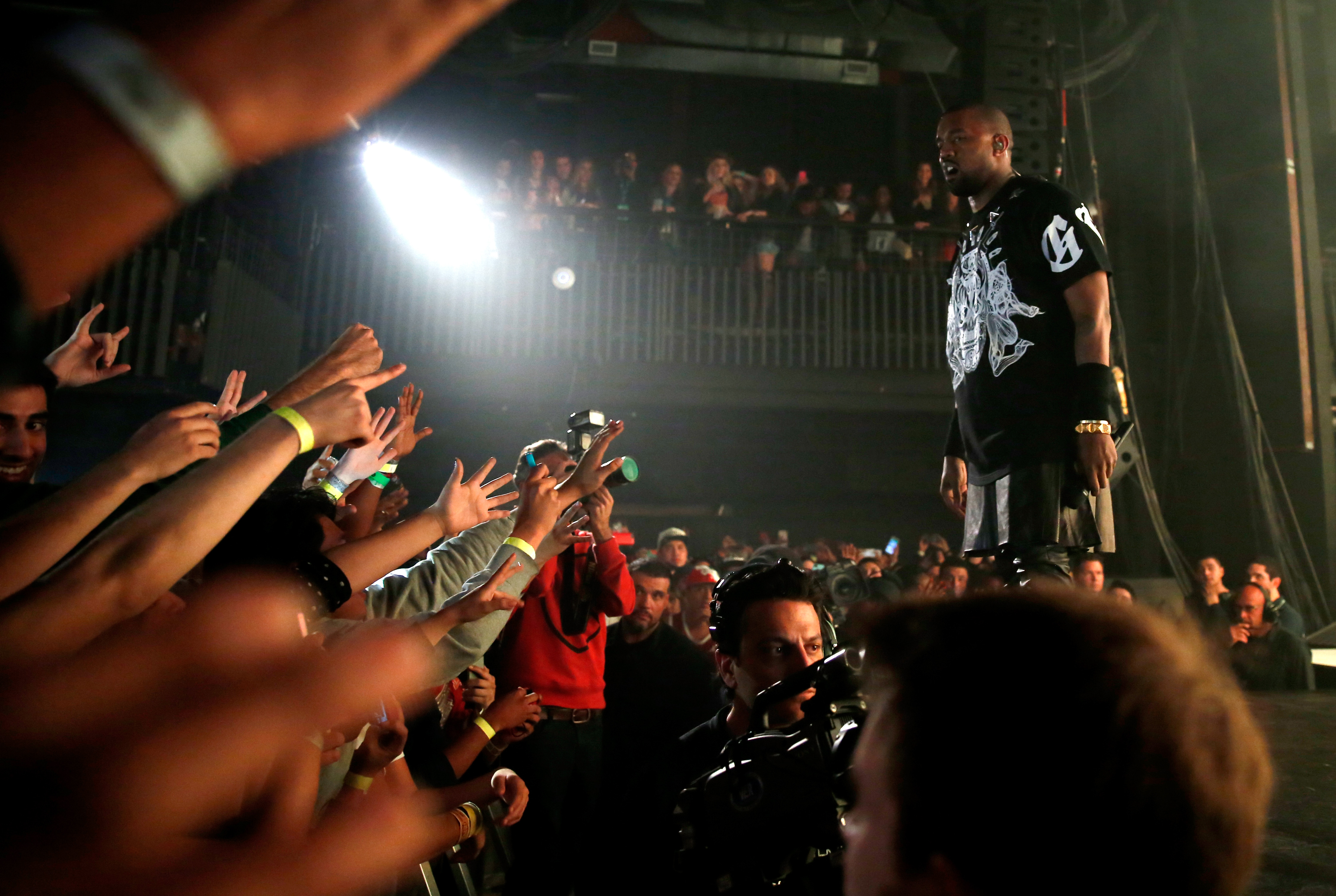 Kanye West performs onstage at South by Southwest on March 12 in Austin, Texas.